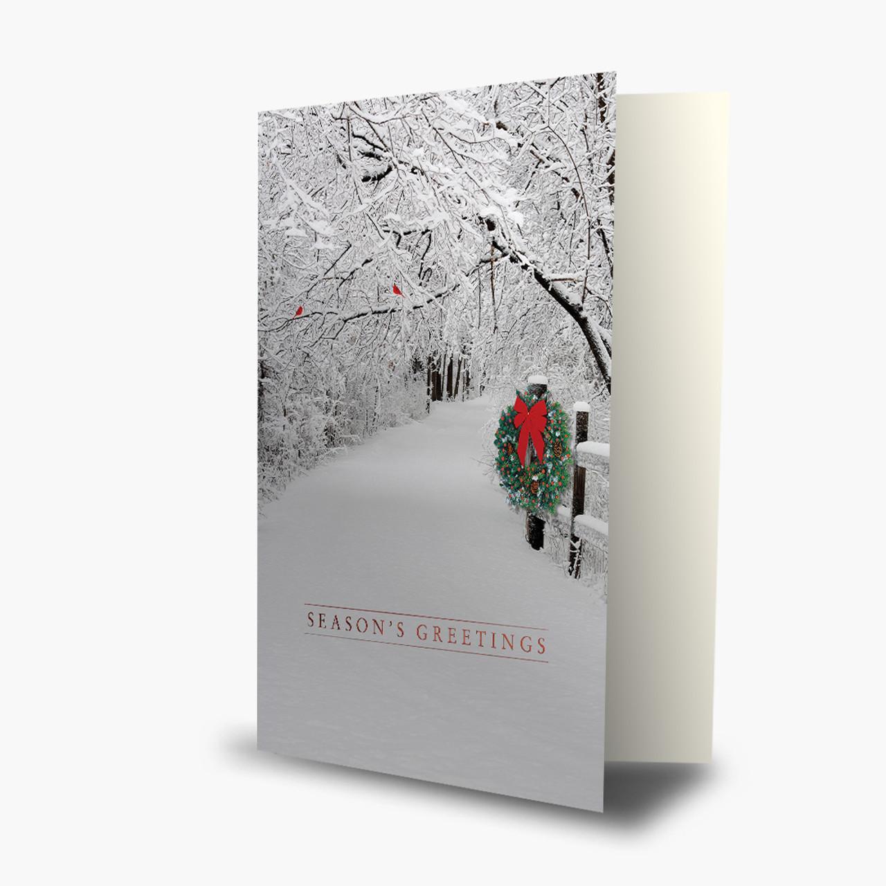 Snowy Christmas Lane Card