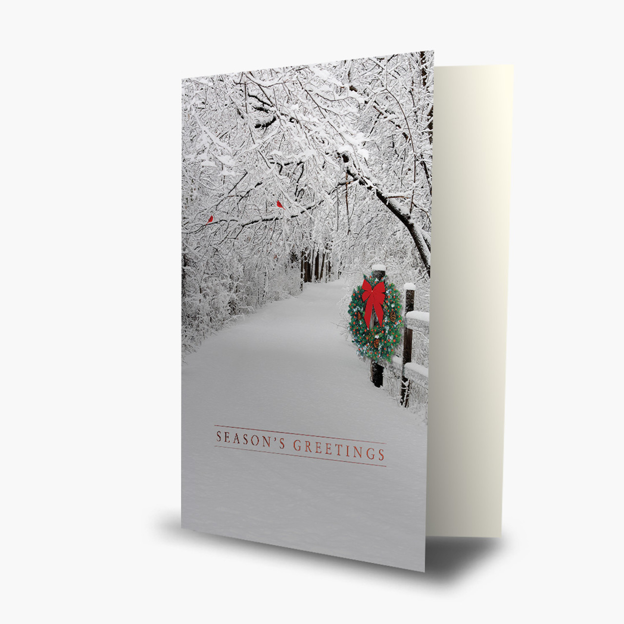 Snowy Christmas Lane Card