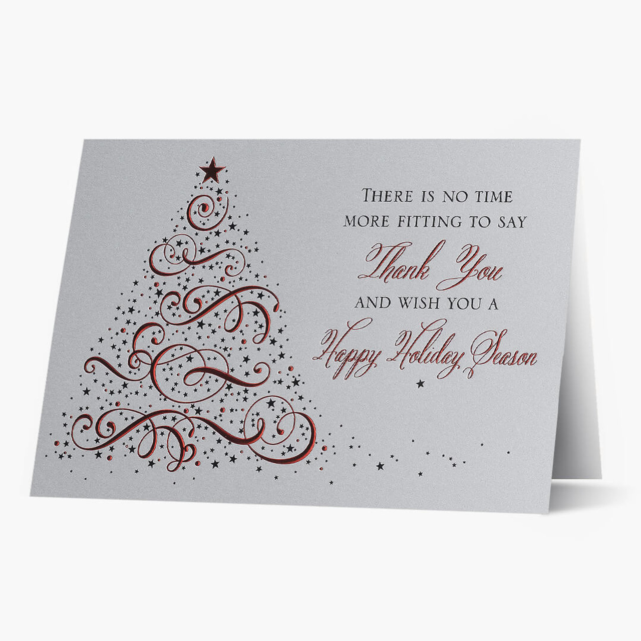 Starry Holiday Tree Christmas Card