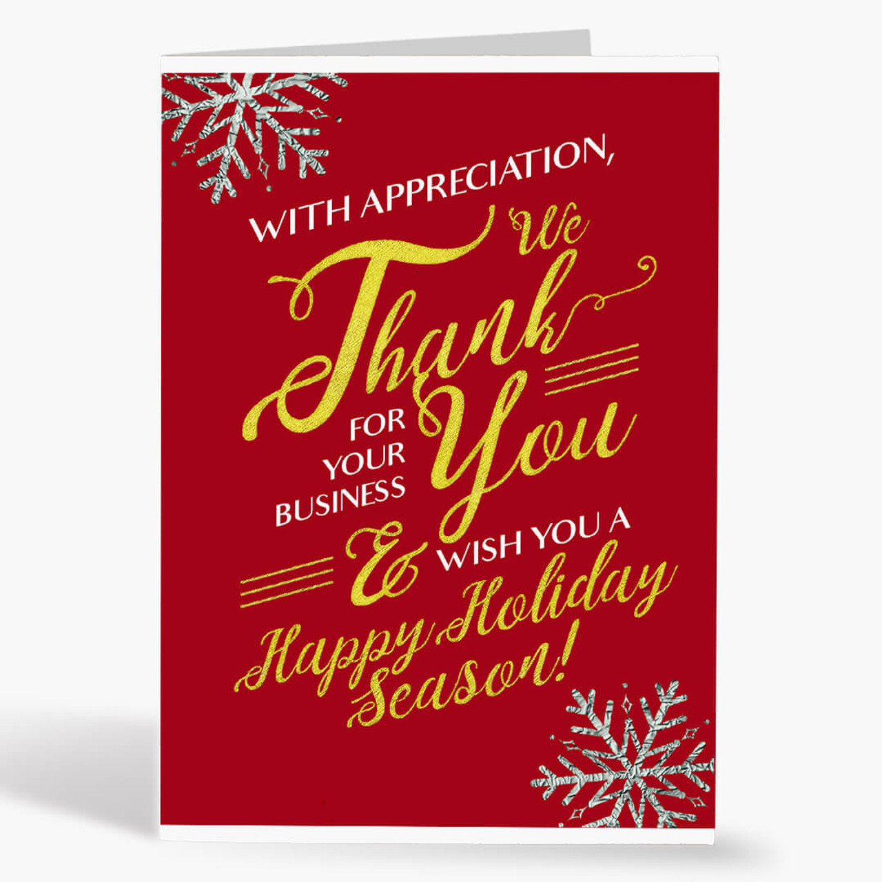 Thank You for Your Business Christmas Card