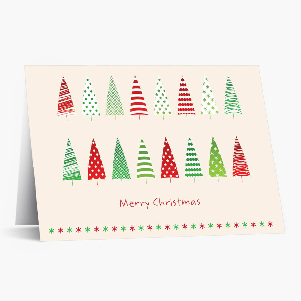 Colorful Trees Christmas Card