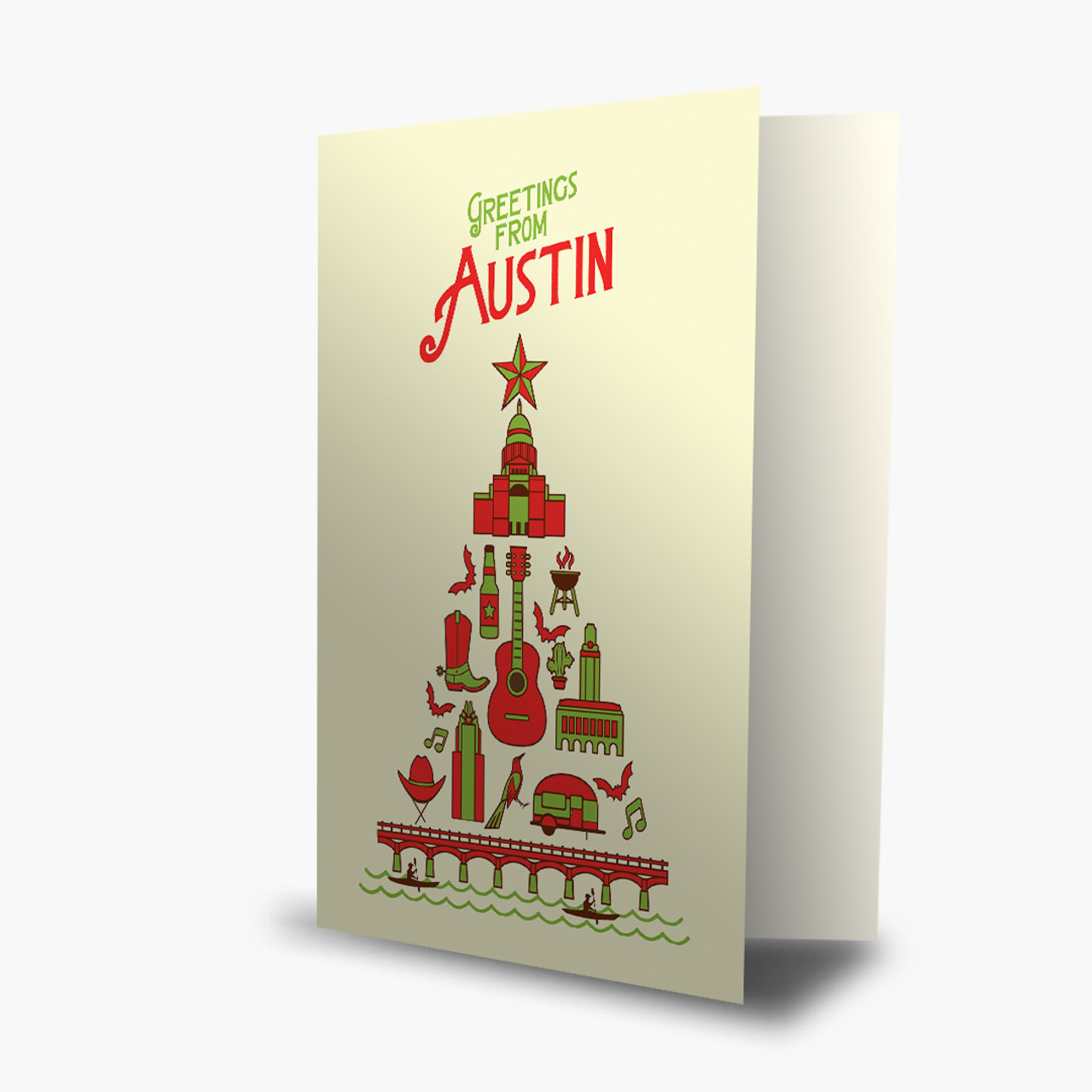 Austin Christmas Tree Card