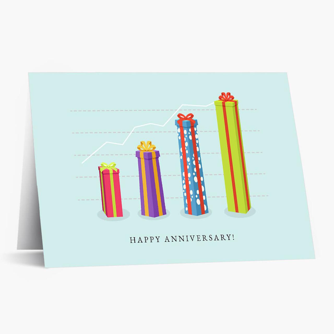 Anniversary Gift Graph Card
