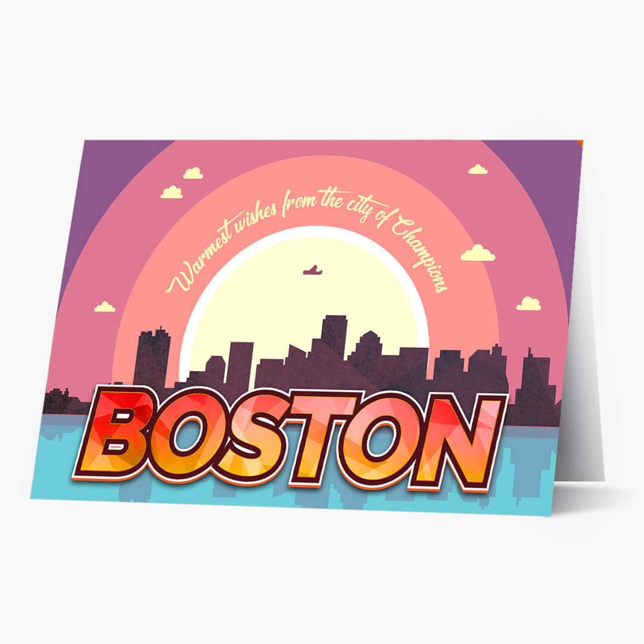 Boston Warmest Wishes Christmas Card