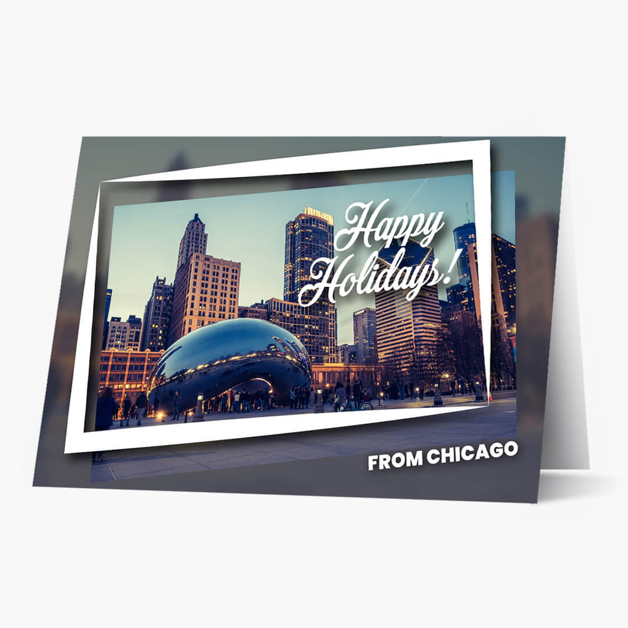 Chicago Holiday City Postcards Christmas Card