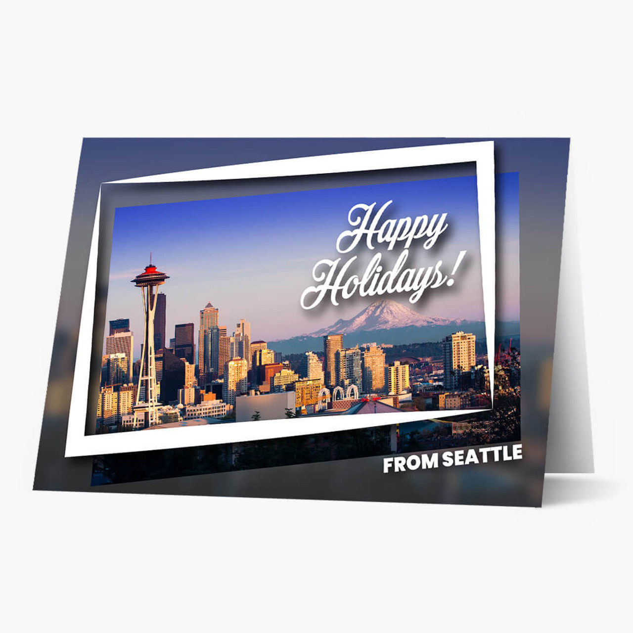 Holiday City Postcards - Seattle Christmas Card