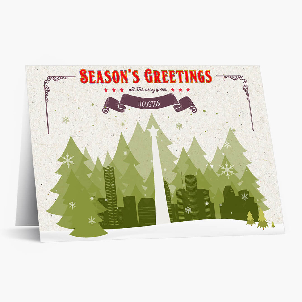 Holiday Trees Houston Christmas Card