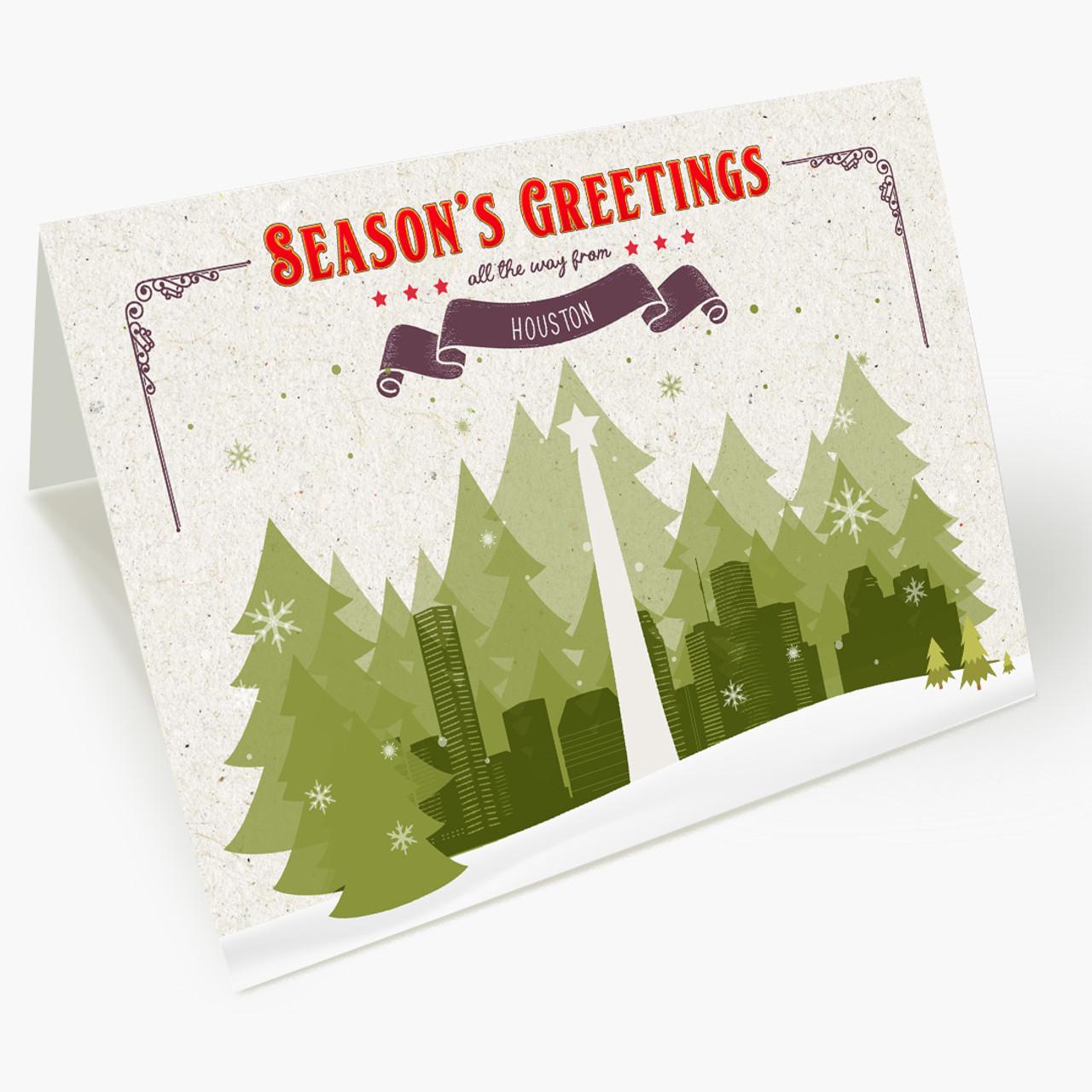 Holiday Trees Houston Christmas Card