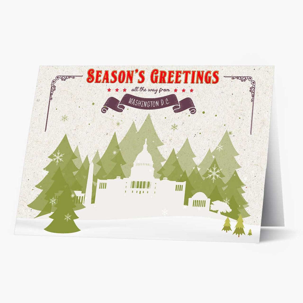 Holiday Trees Washington Christmas Card