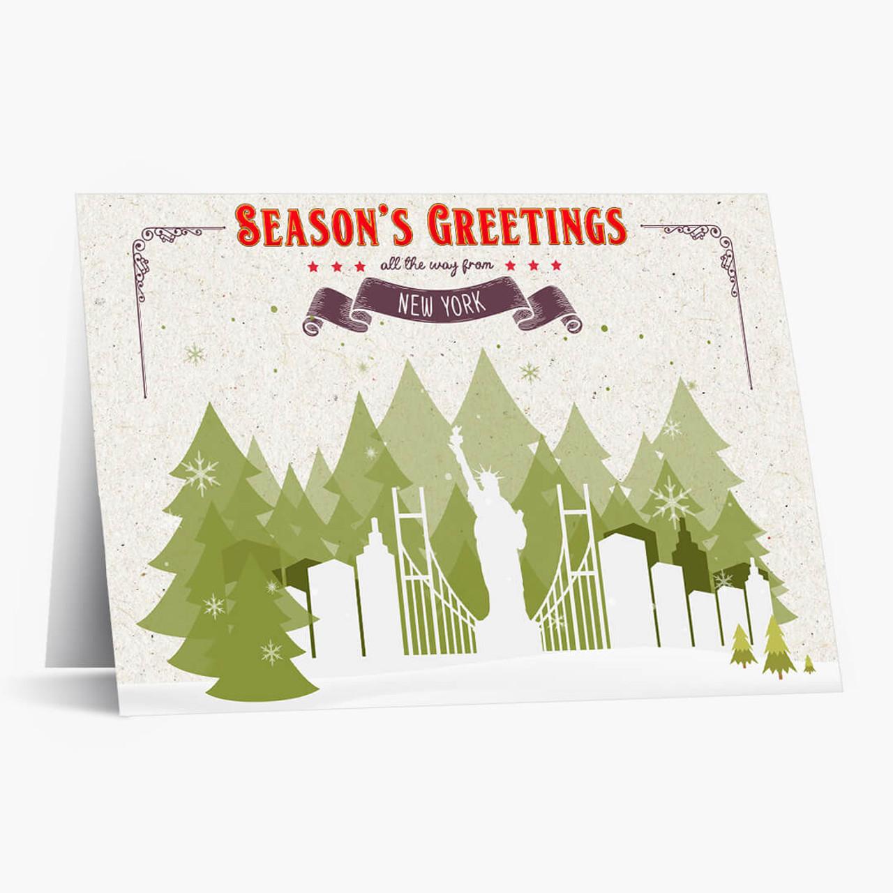 Holiday Trees New York Christmas Card