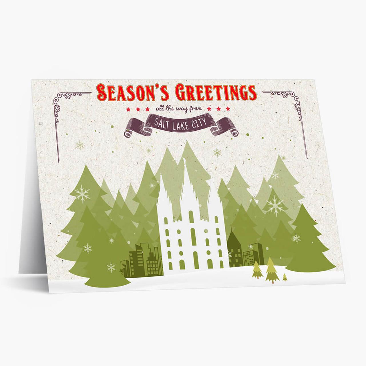 Holiday Trees Salt Lake Christmas Card
