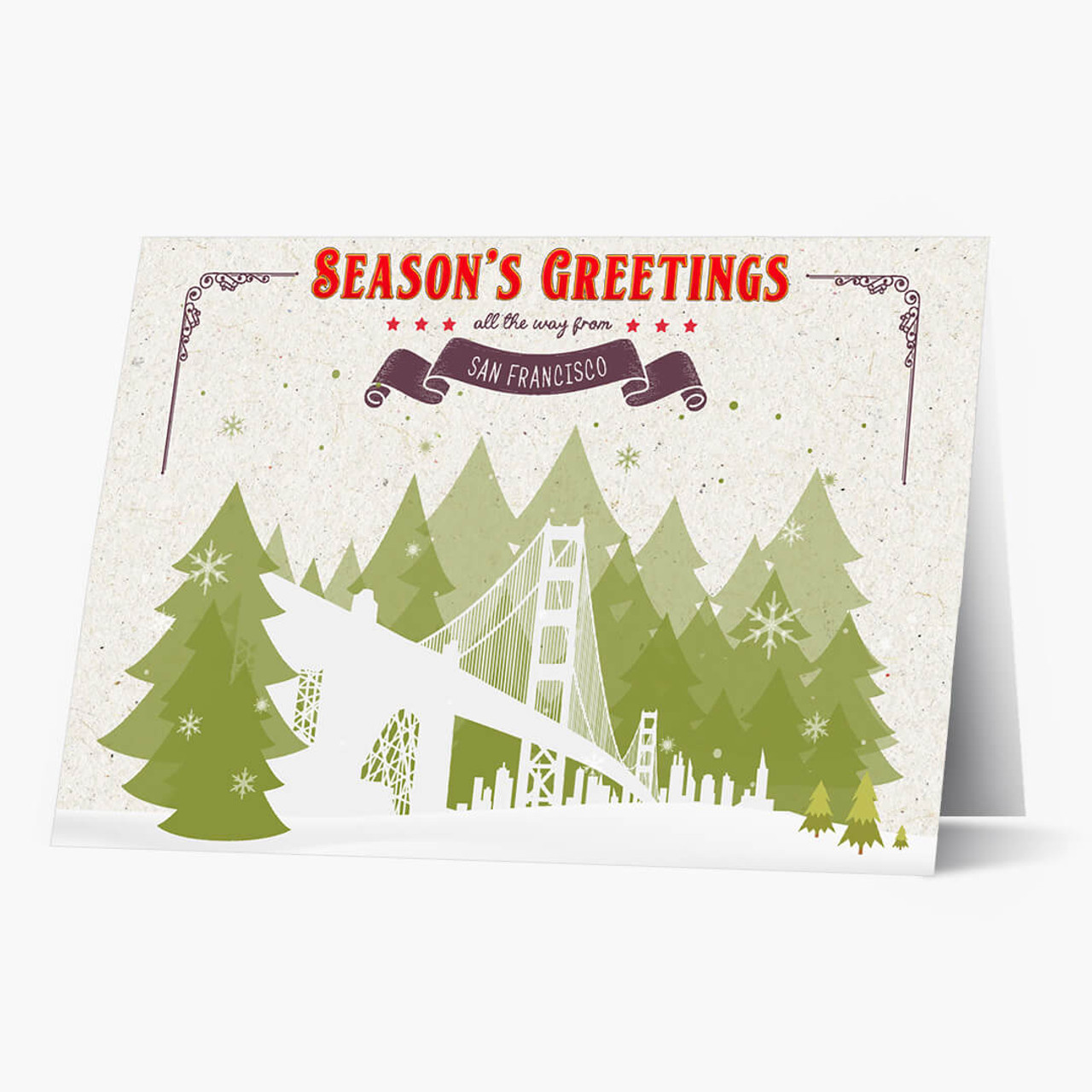 Holiday Trees San Francisco Christmas Card