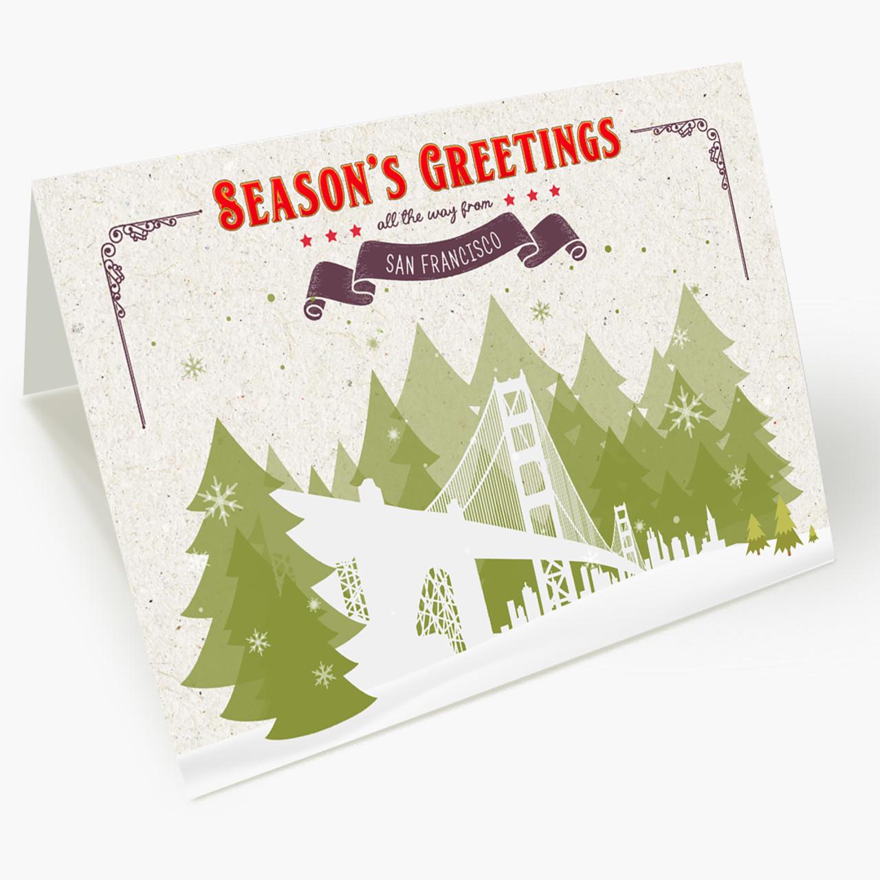 Holiday Trees San Francisco Christmas Card