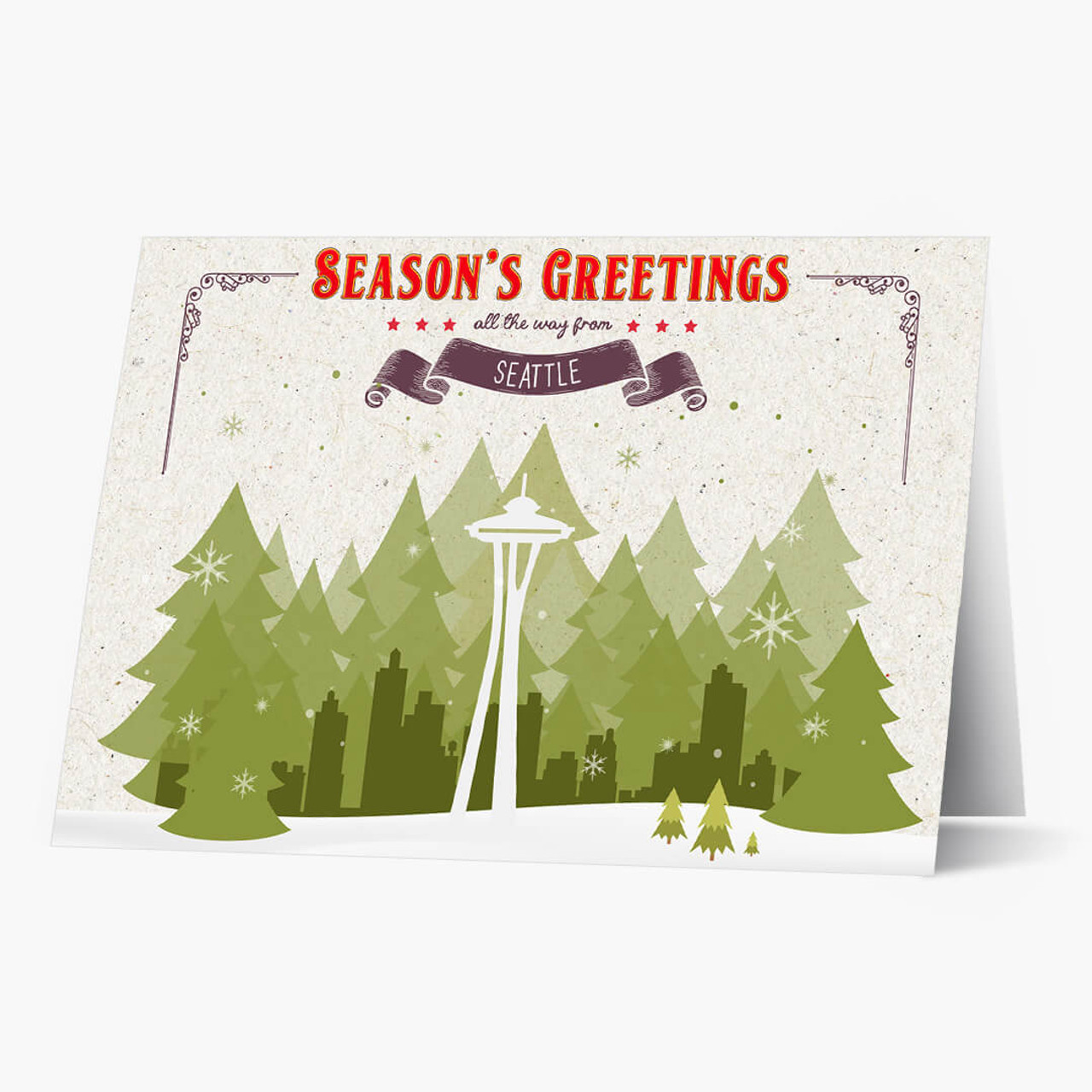 Holiday Trees Seattle Christmas Card