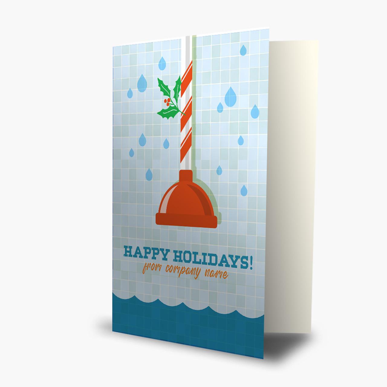 Plumbing Christmas Card