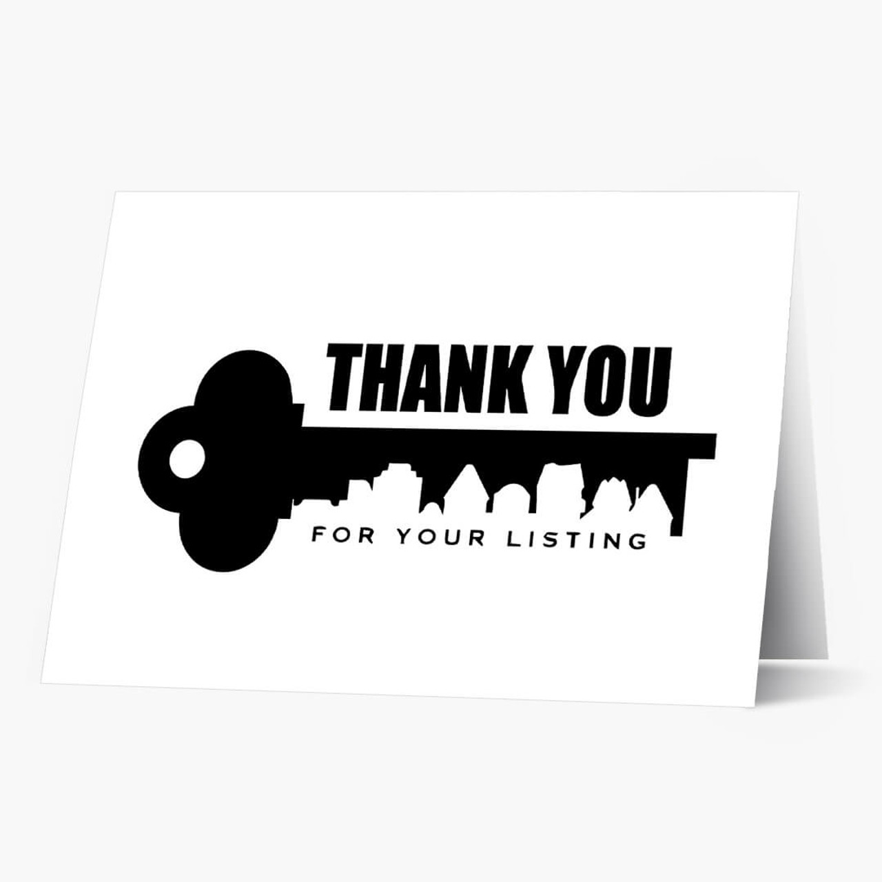 Thank You for Your Listing Real Estate Card