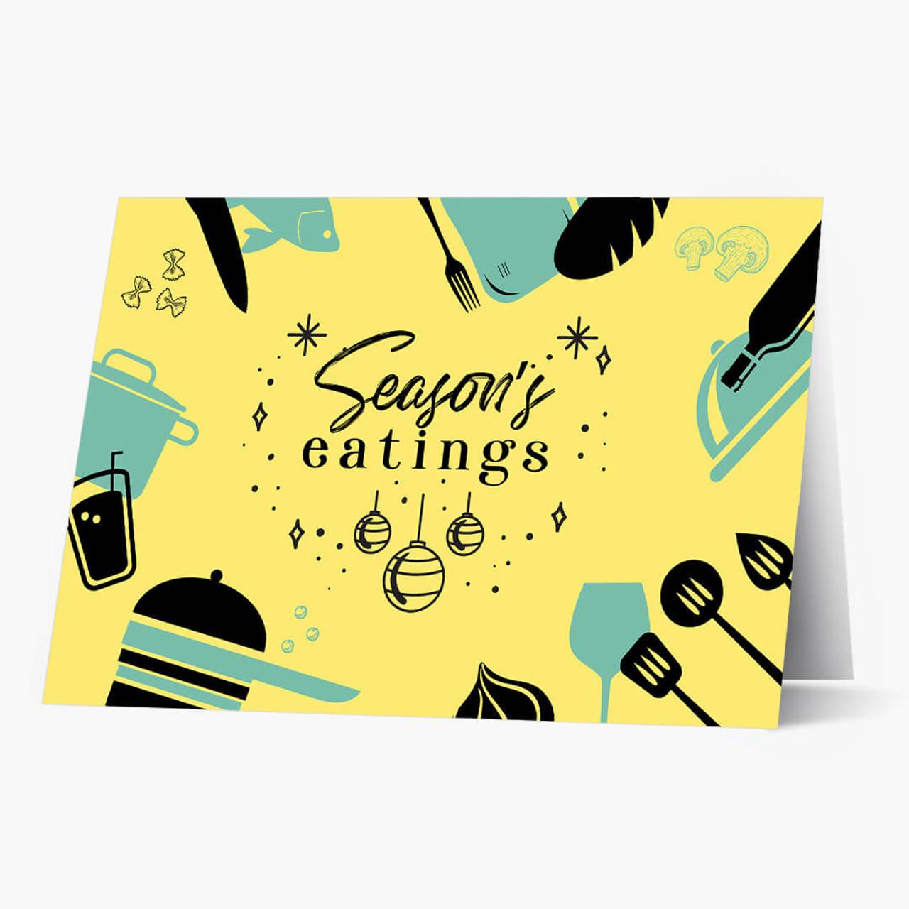 Season's Eatings Christmas Card