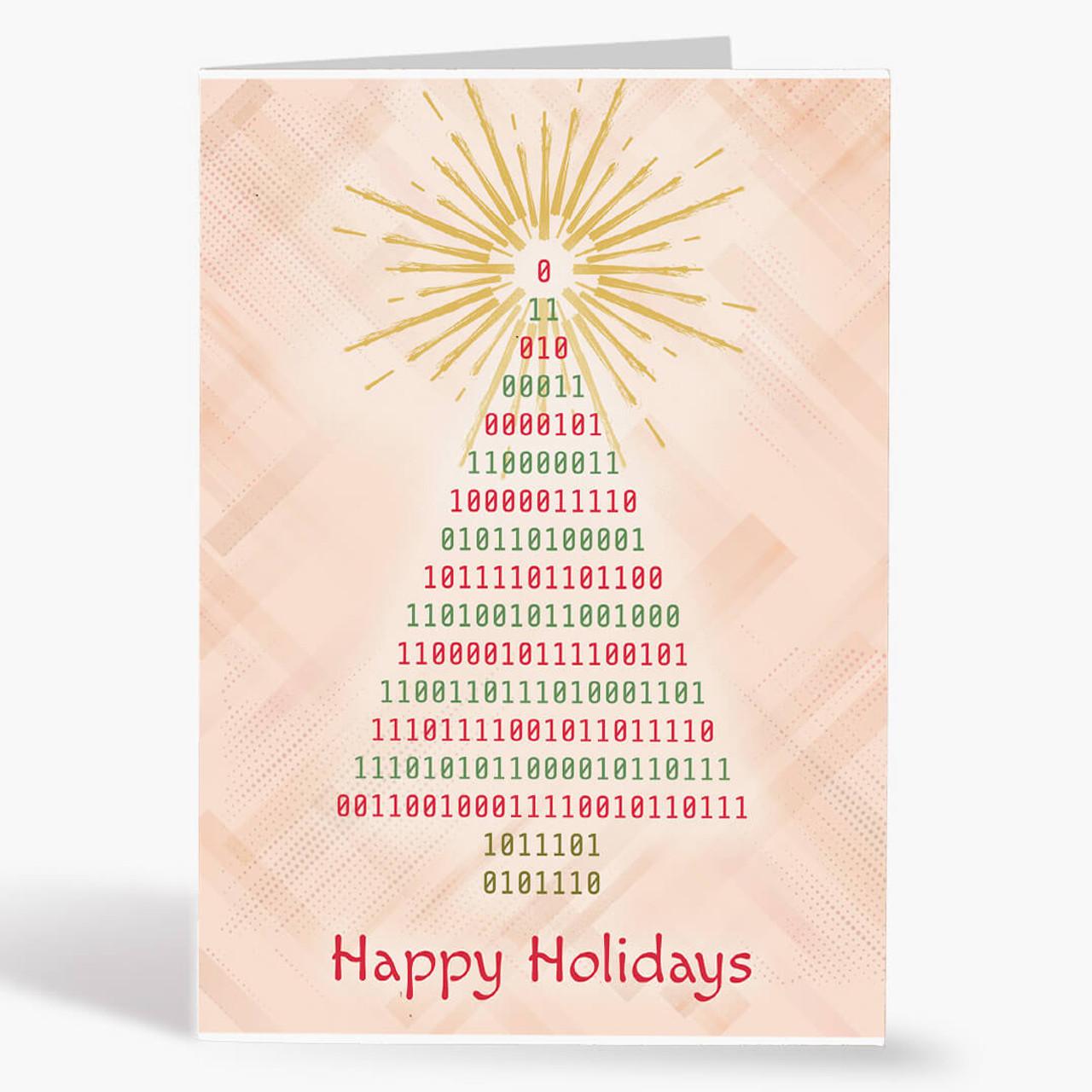 Binary Tree Christmas Card
