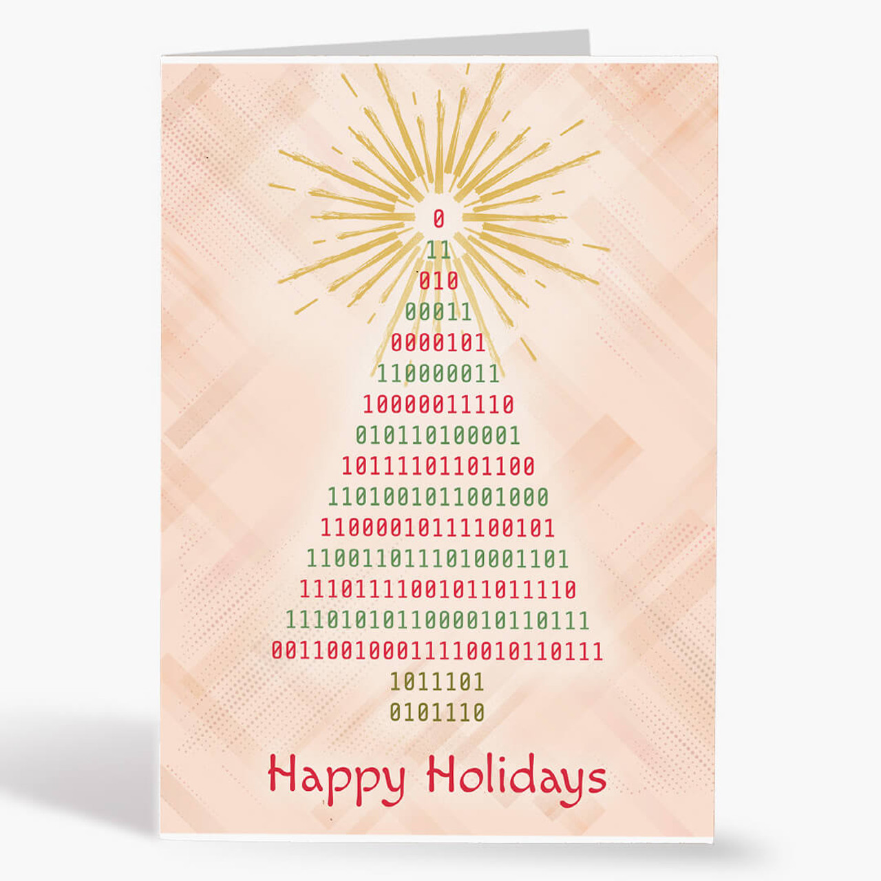 Binary Tree Christmas Card