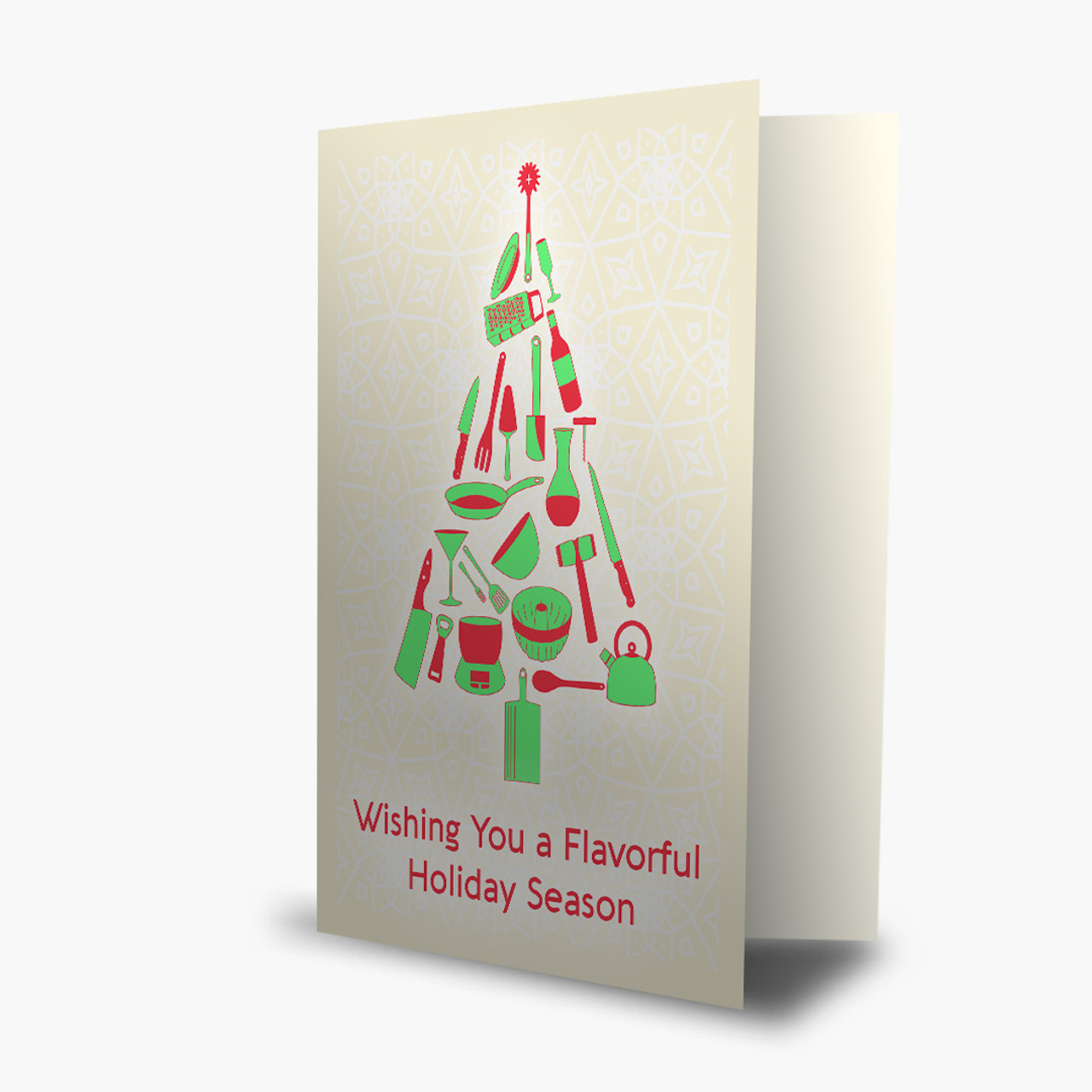 Flavorful Holiday Tree Christmas Card