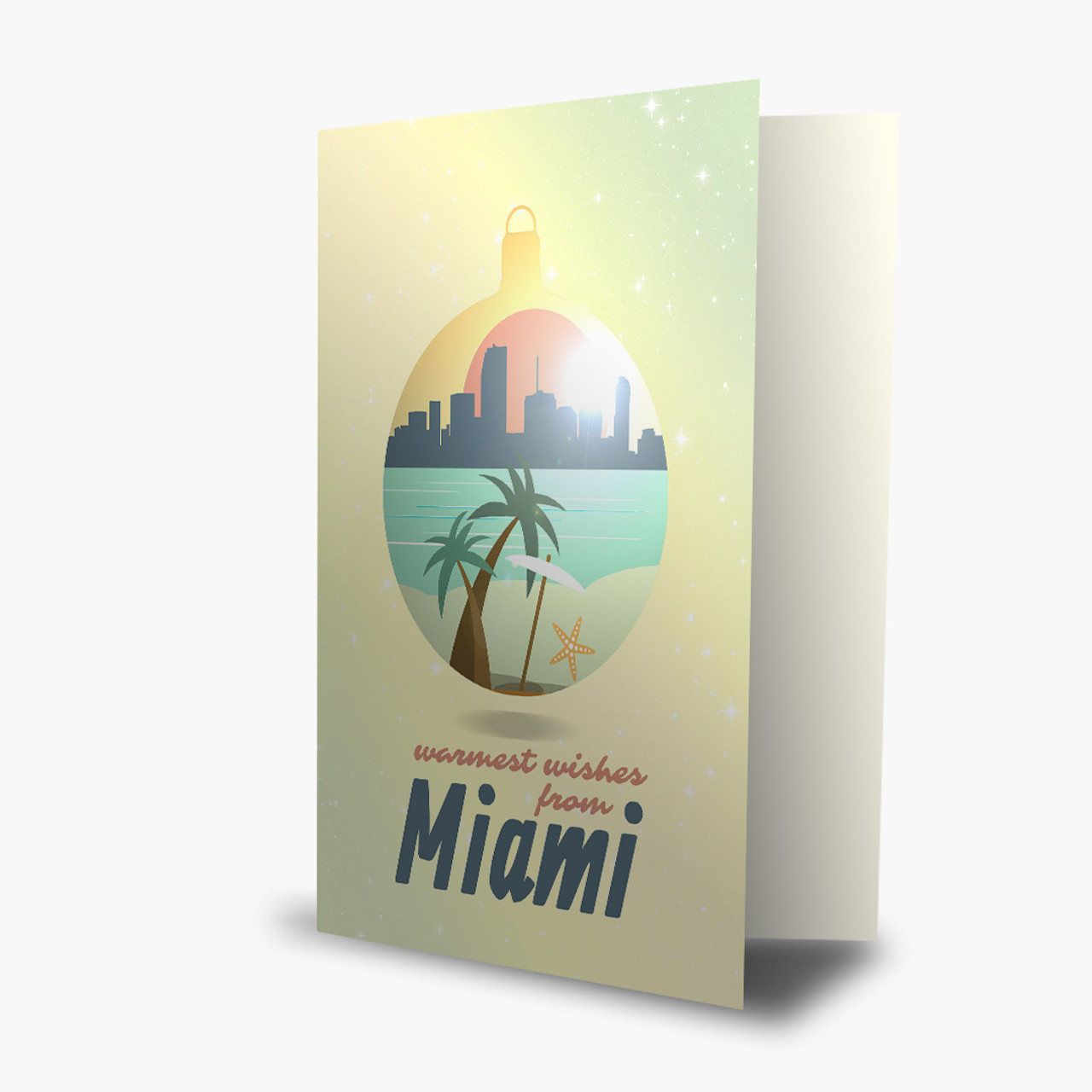 Ornament Miami Warm Wishes Christmas Card