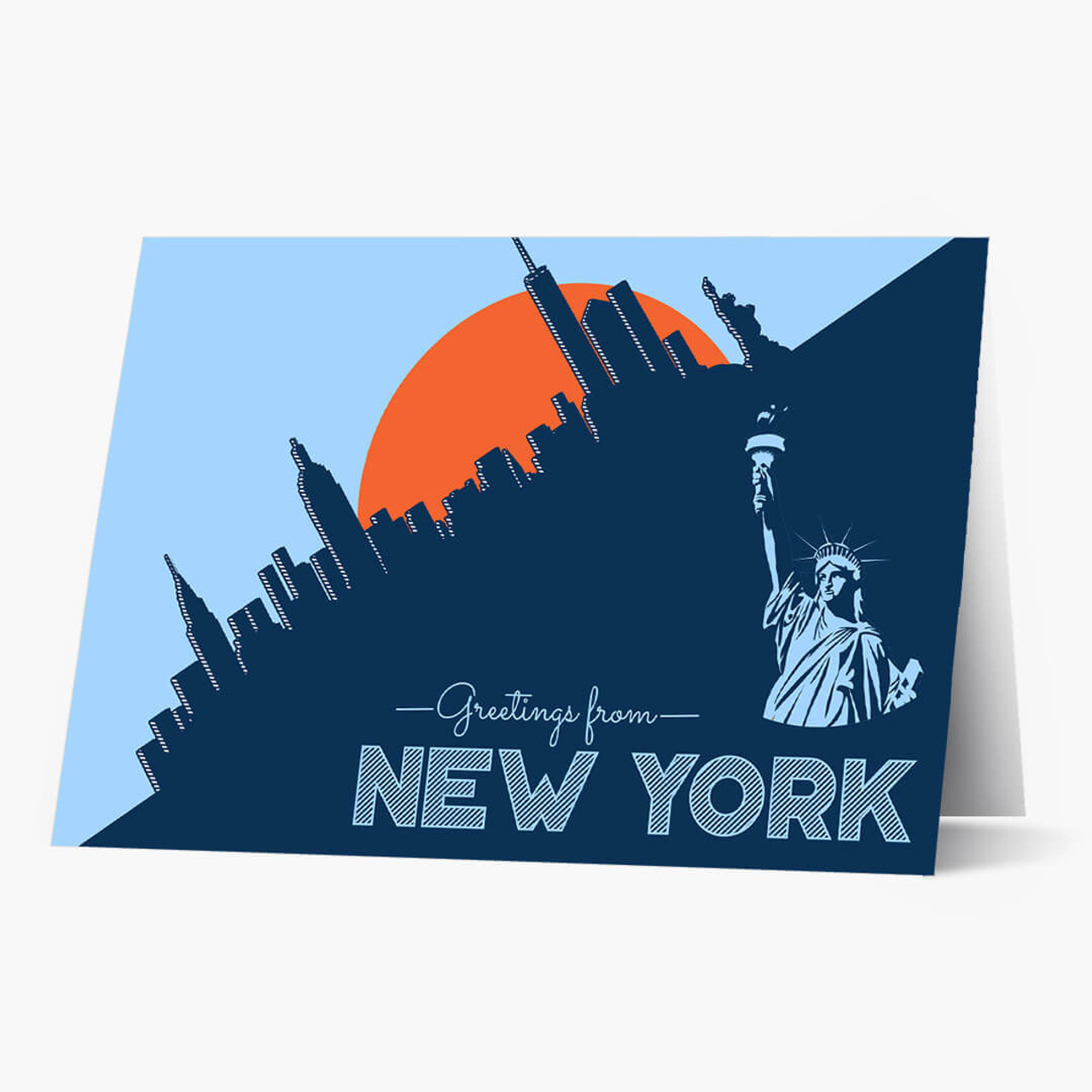 Pop Art New York Business Greeting Card