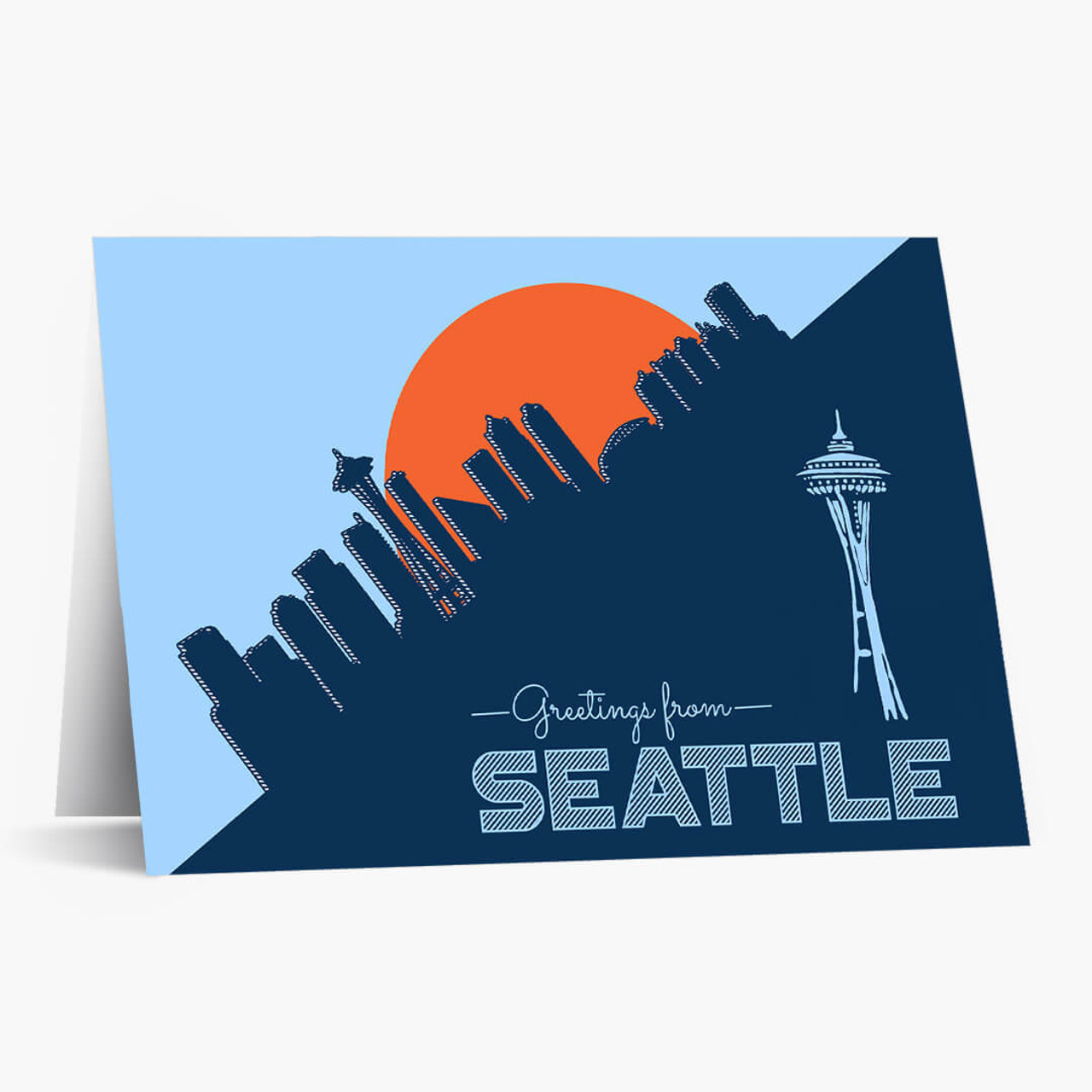 Pop Art Seattle Business Greeting Card