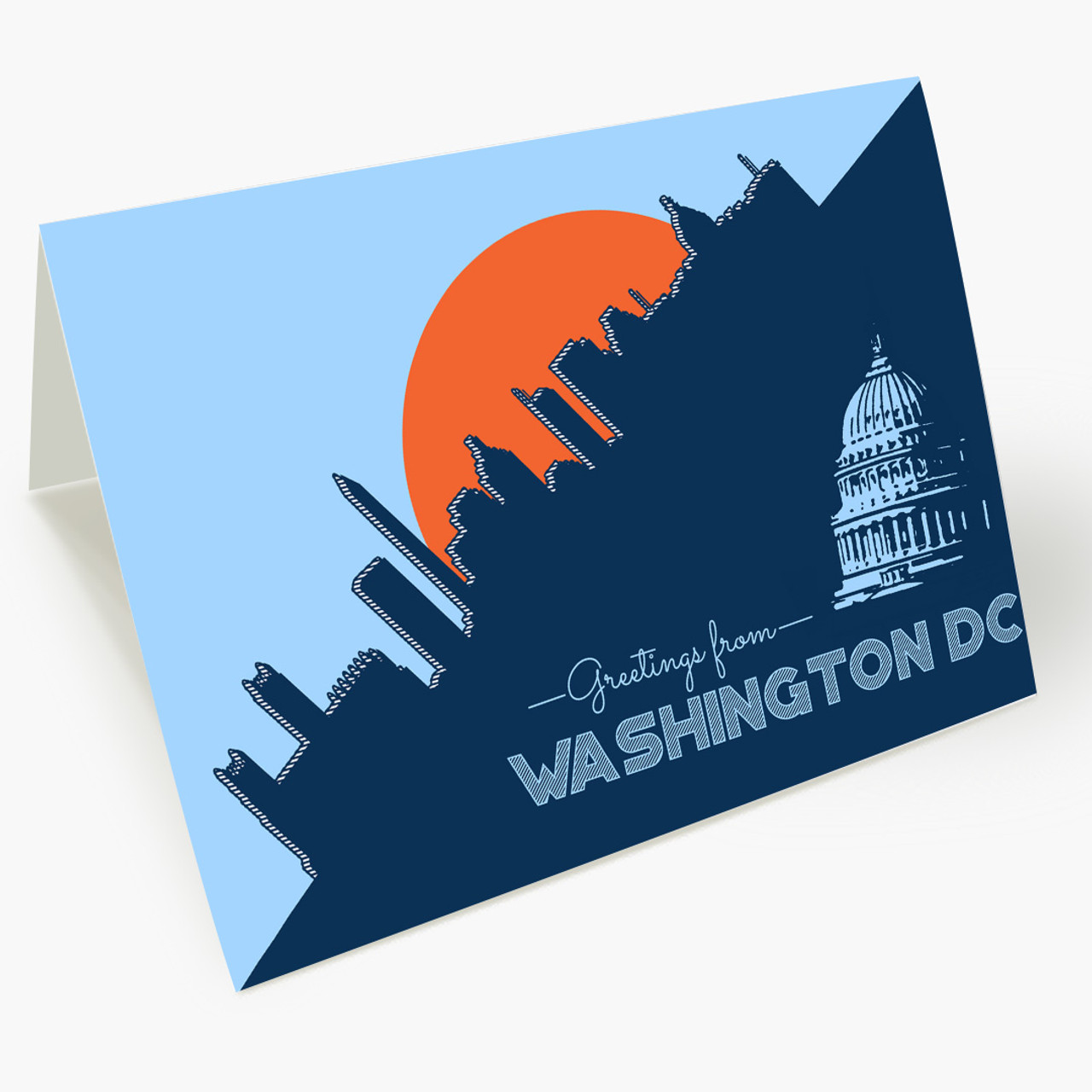Pop Art Washington Business Greeting Card