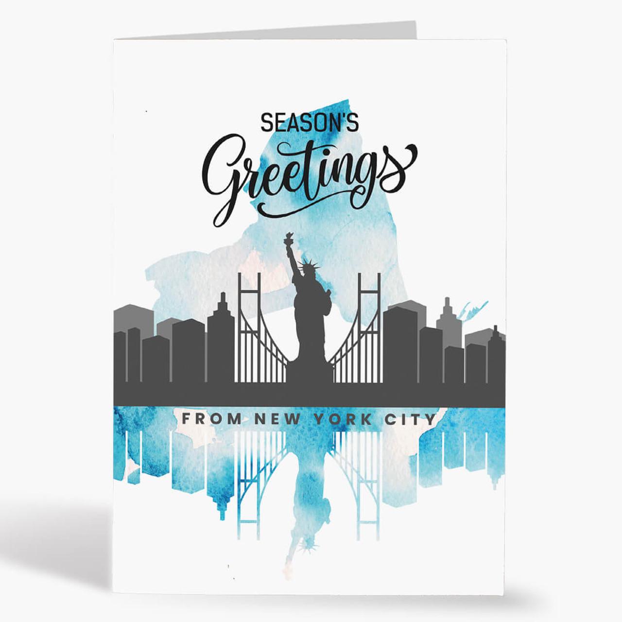 New York Season's Greetings Christmas Card