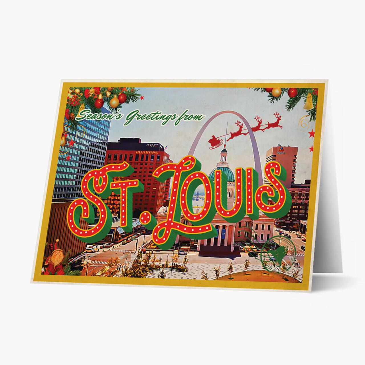 St. Louis Vintage Postcard Christmas Card