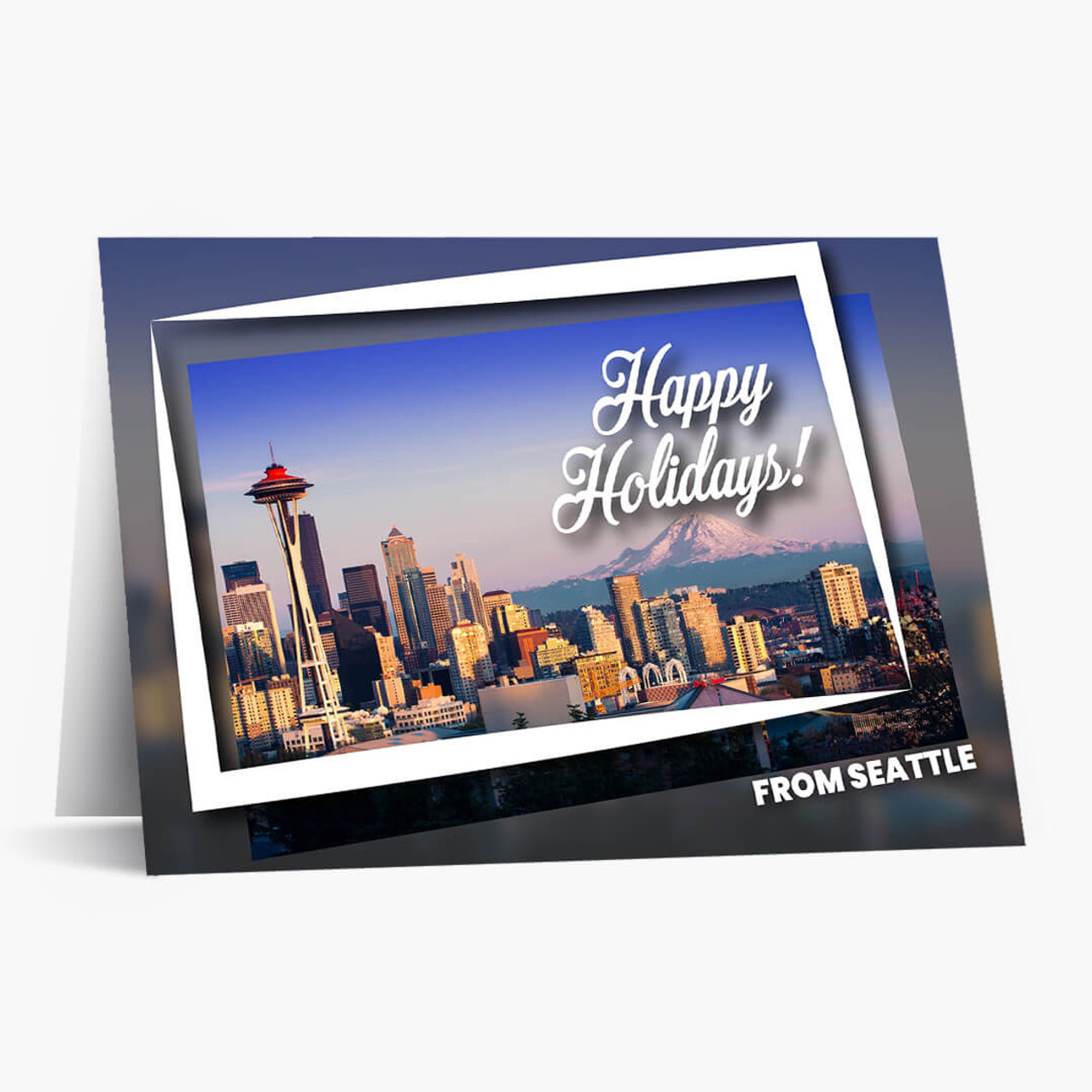 Holiday Postcard Seattle Christmas Card