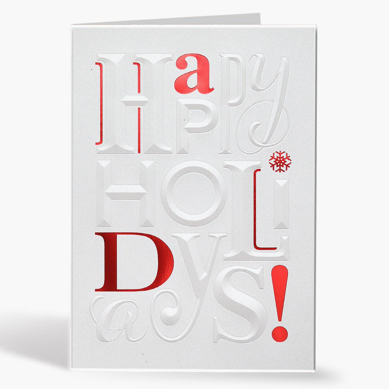 Embossed Holidays Christmas Card