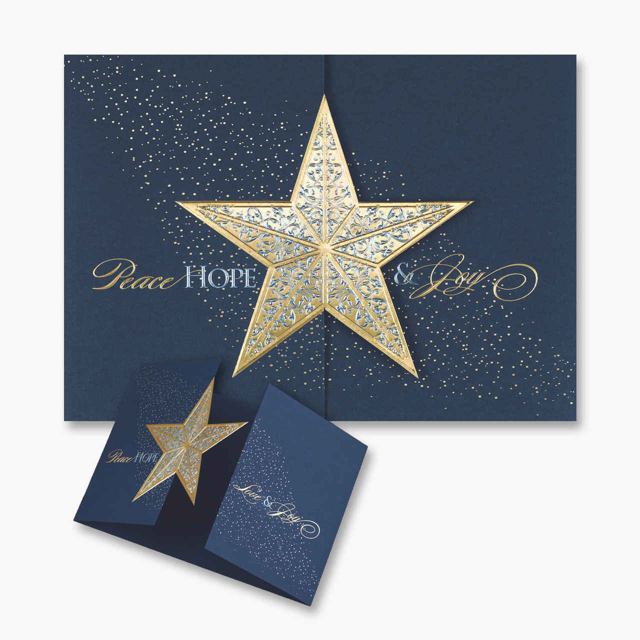 Golden Star Christmas Card
