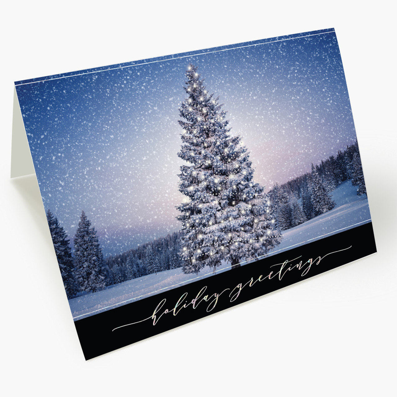 Winter Tree Holiday Christmas Card