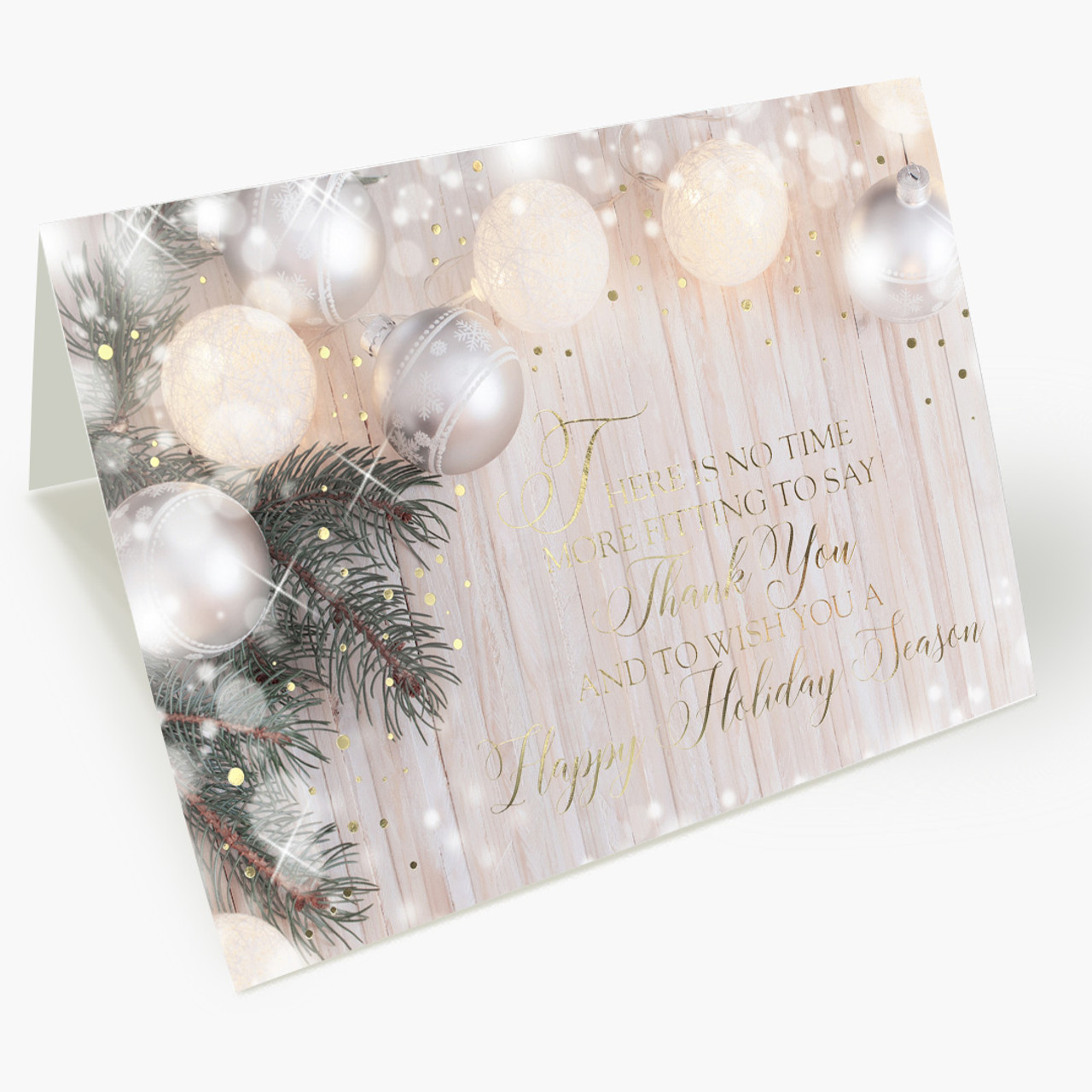 Holiday Decorations Appreciations Christmas Card
