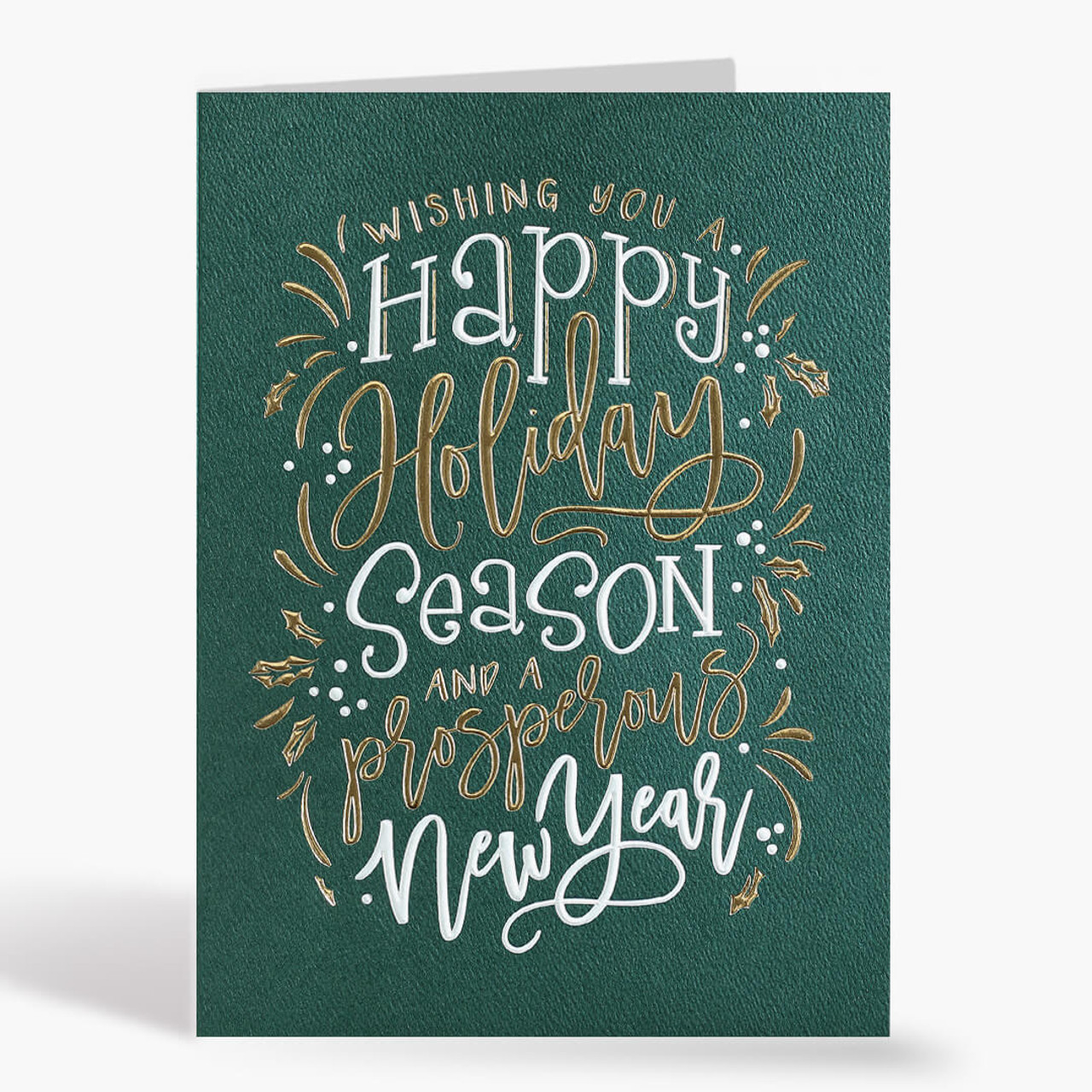 Holiday Duo Typography Christmas Card