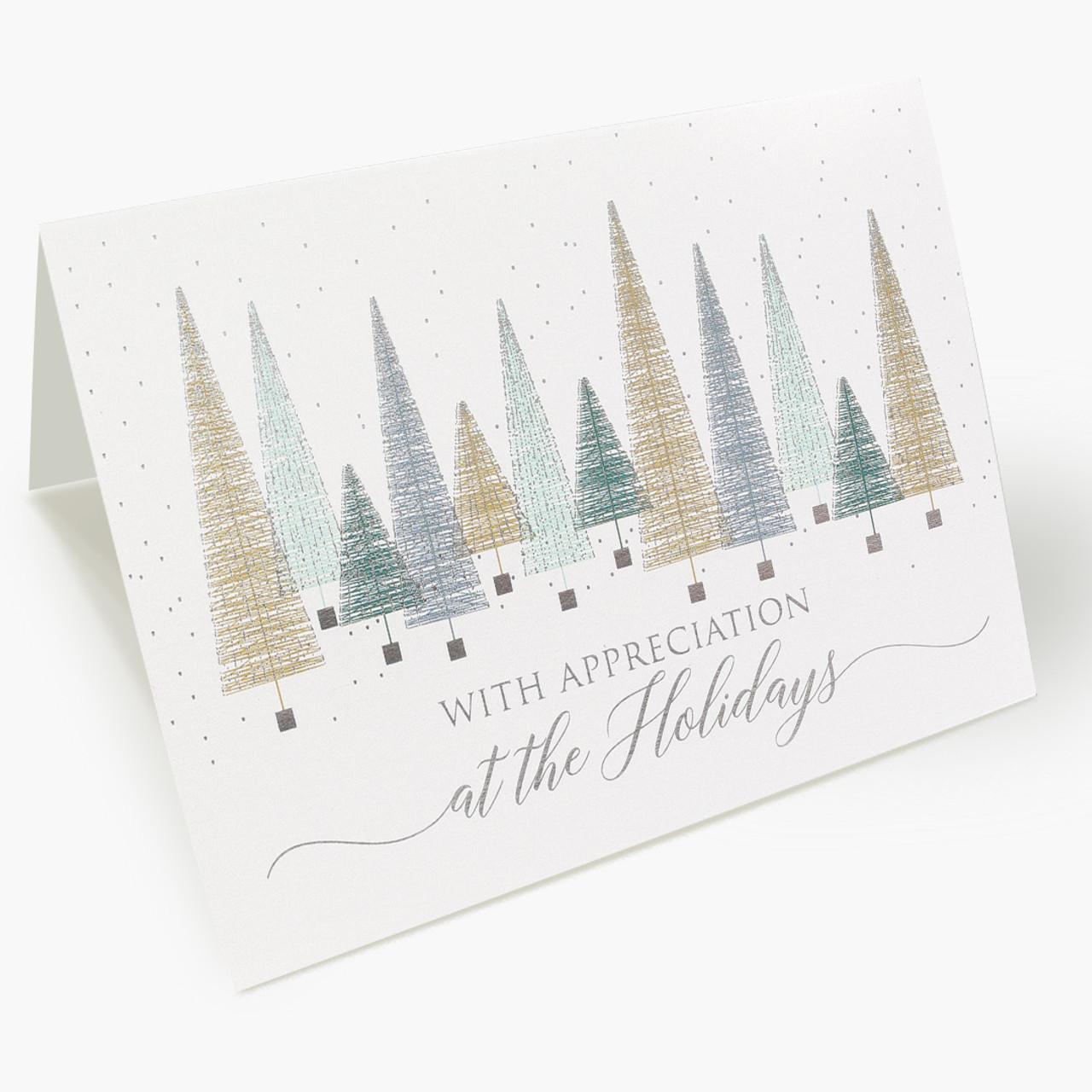 Bottle Brush Trees Christmas Card
