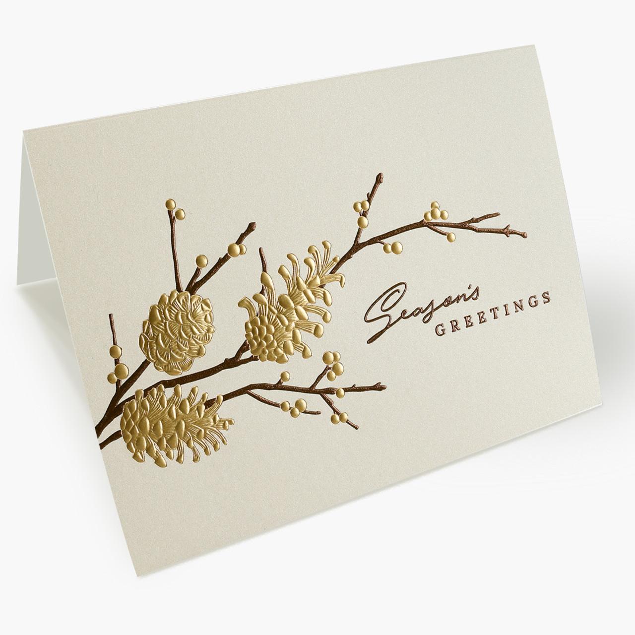 Pine Cone Christmas Card