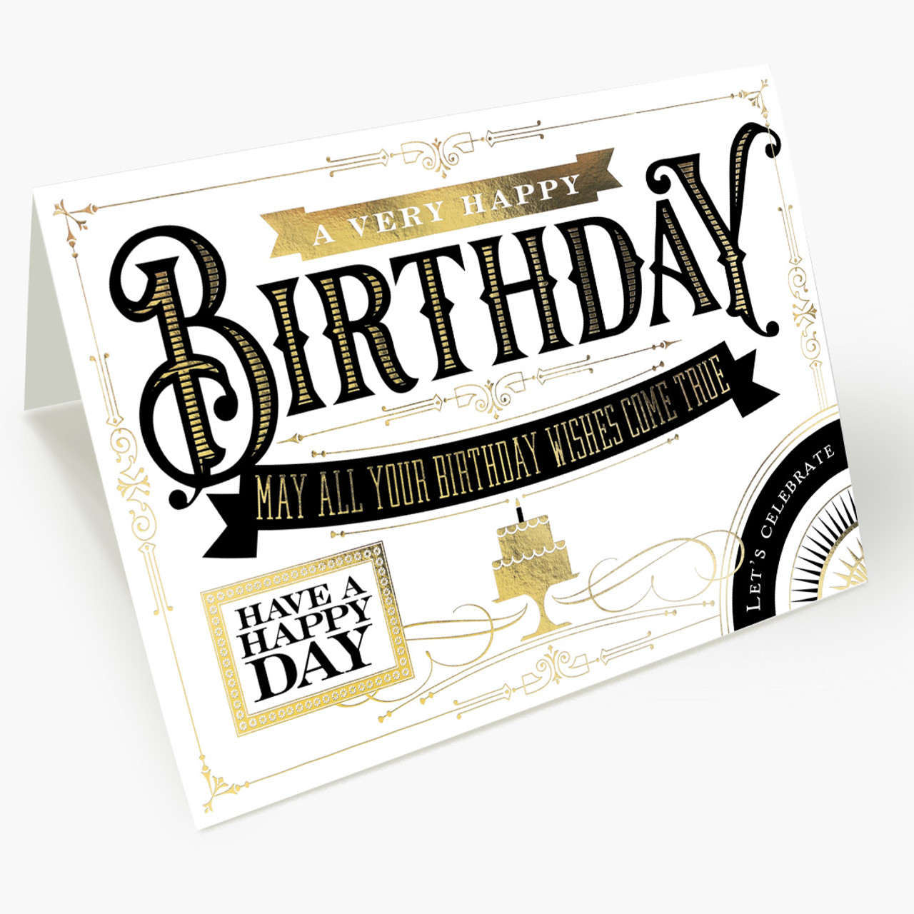 Birthday Wordings and Icons Birthday Card