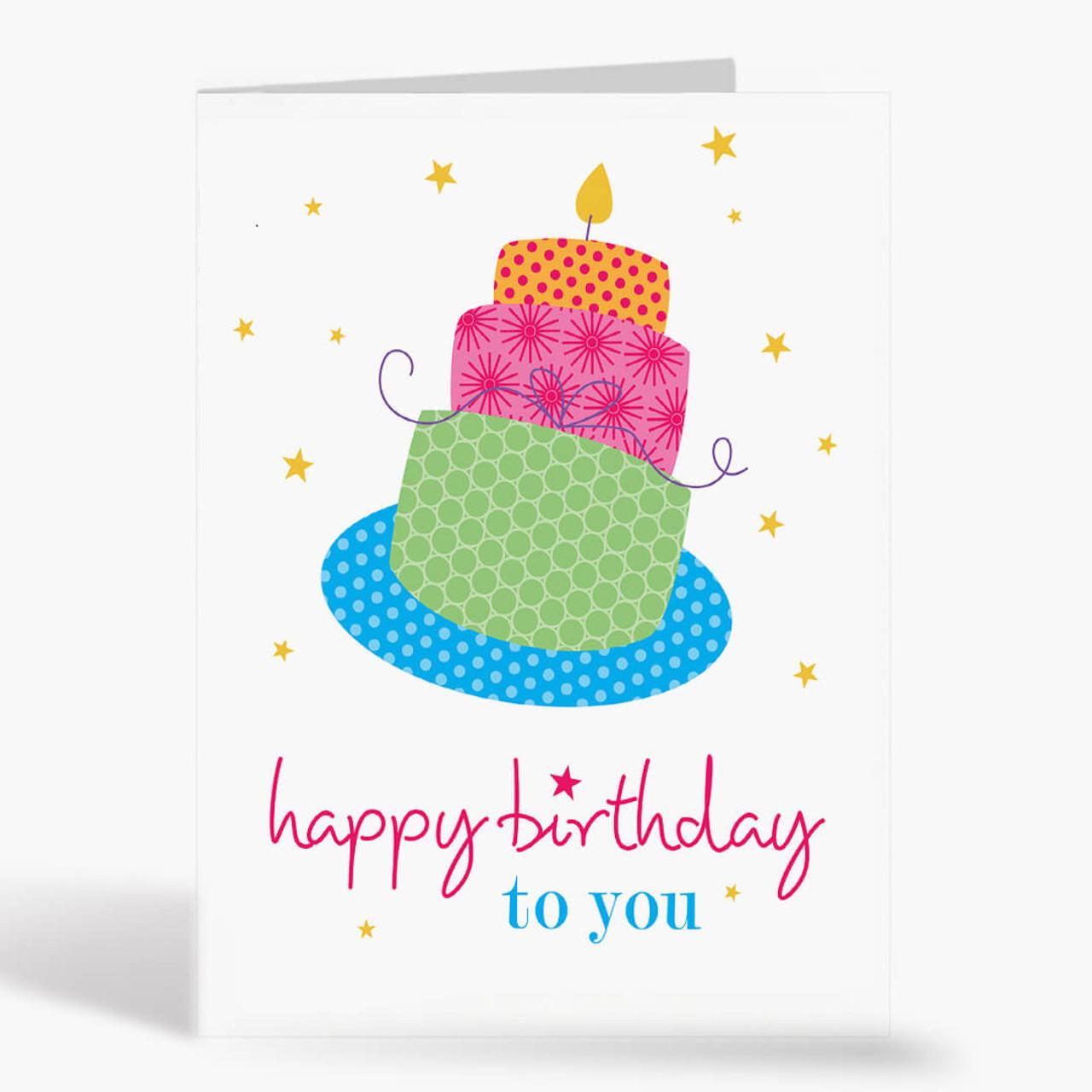 Colorful Layered Birthday Cake