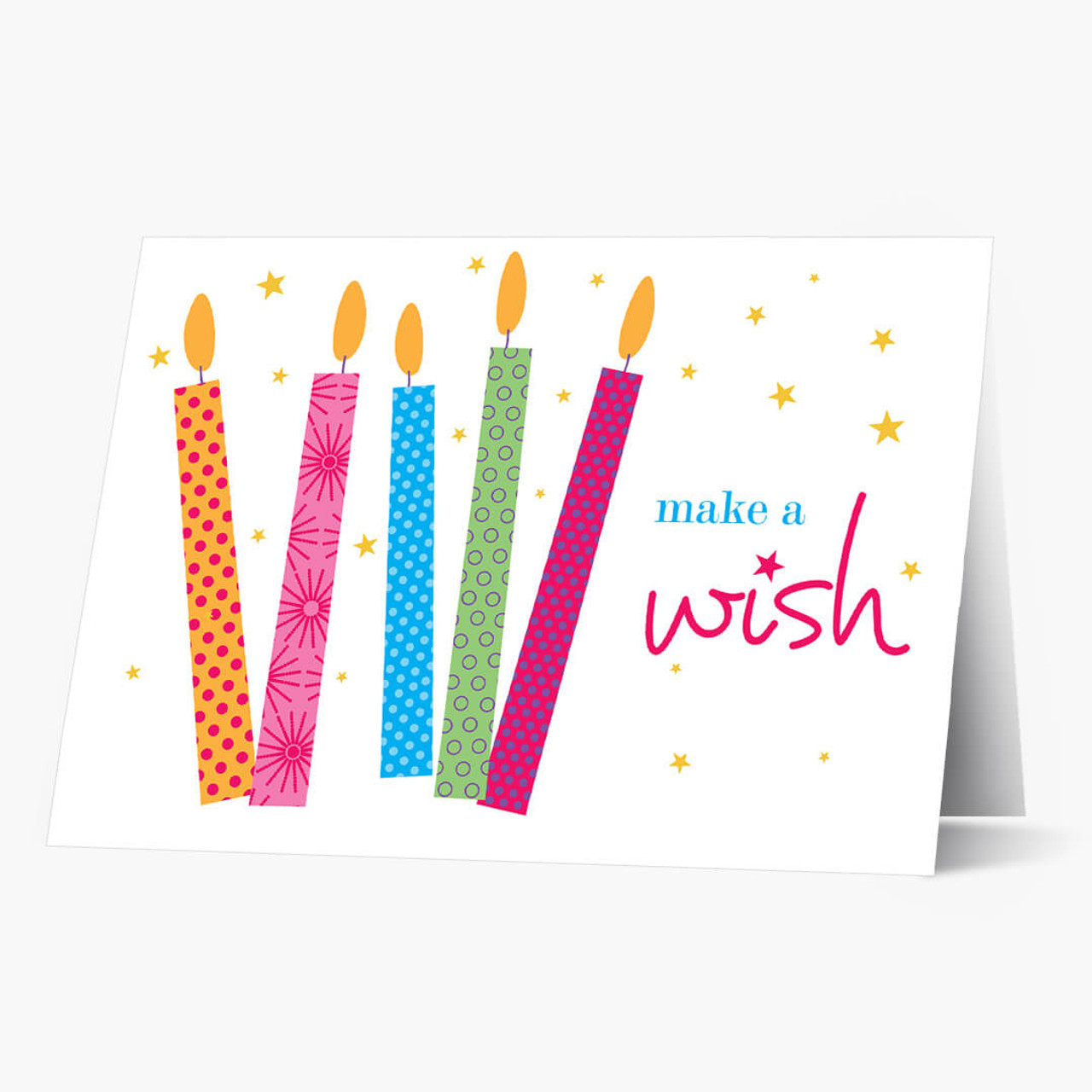 Stars and Candles Birthday Card