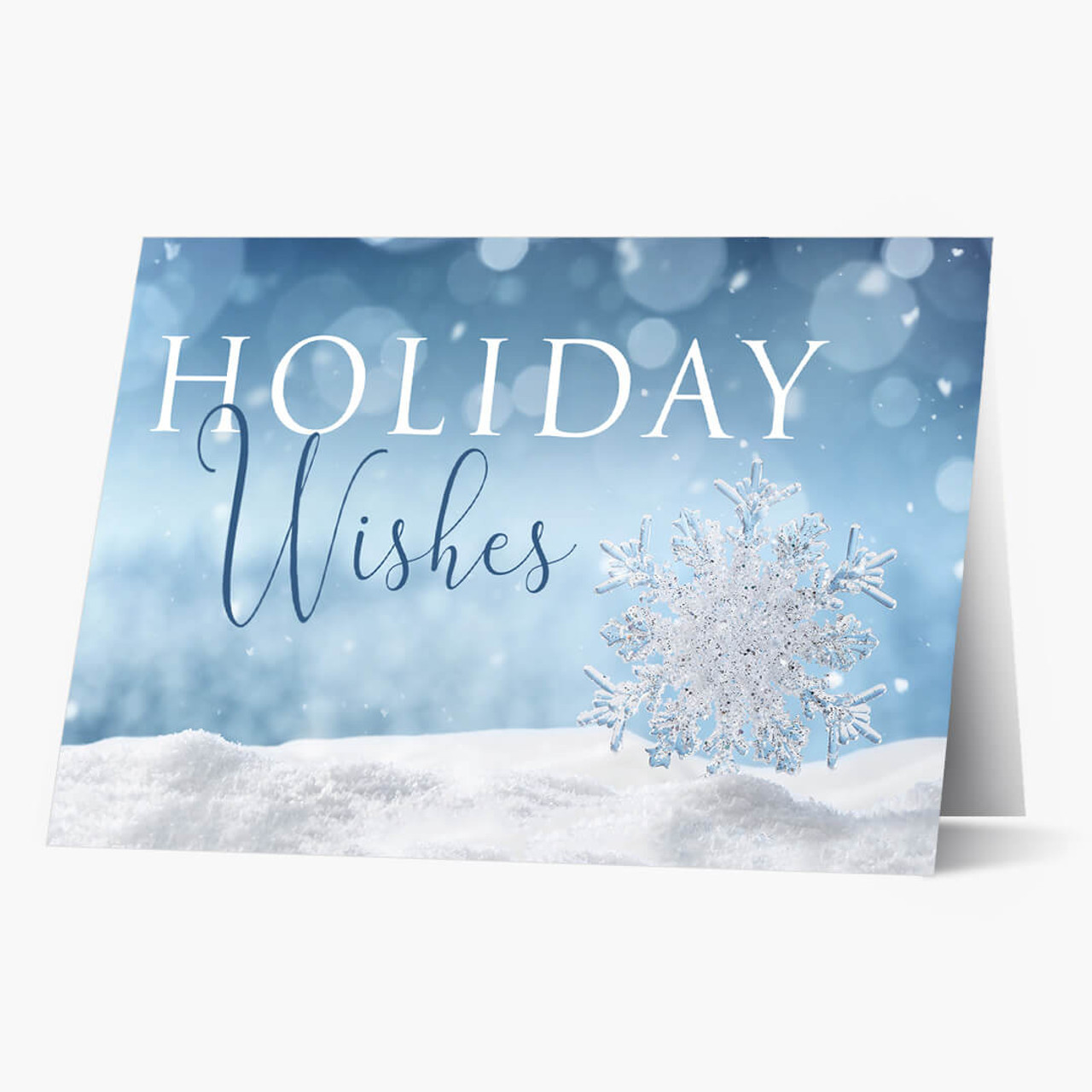 Shimmering Wishes Holiday Wishes Christmas Card