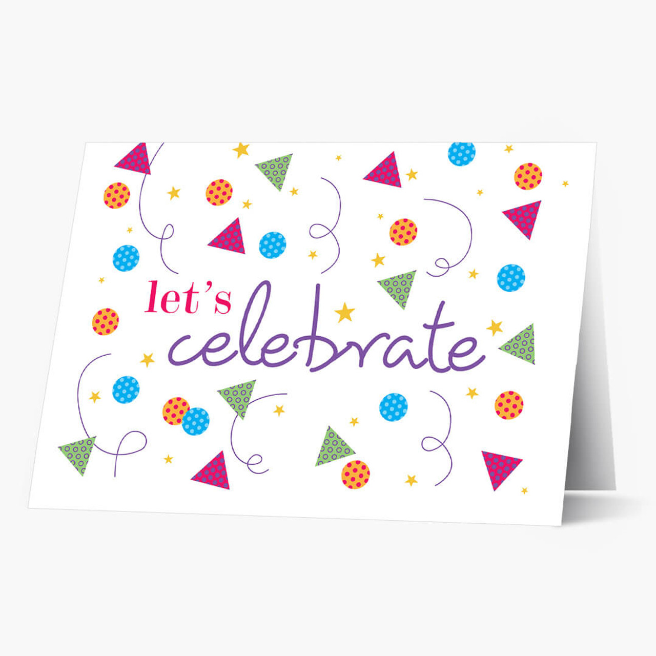 Confetti and Stars Birthday Card