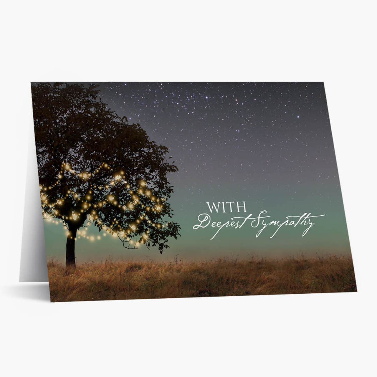 Tree With Lights Sympathy Card