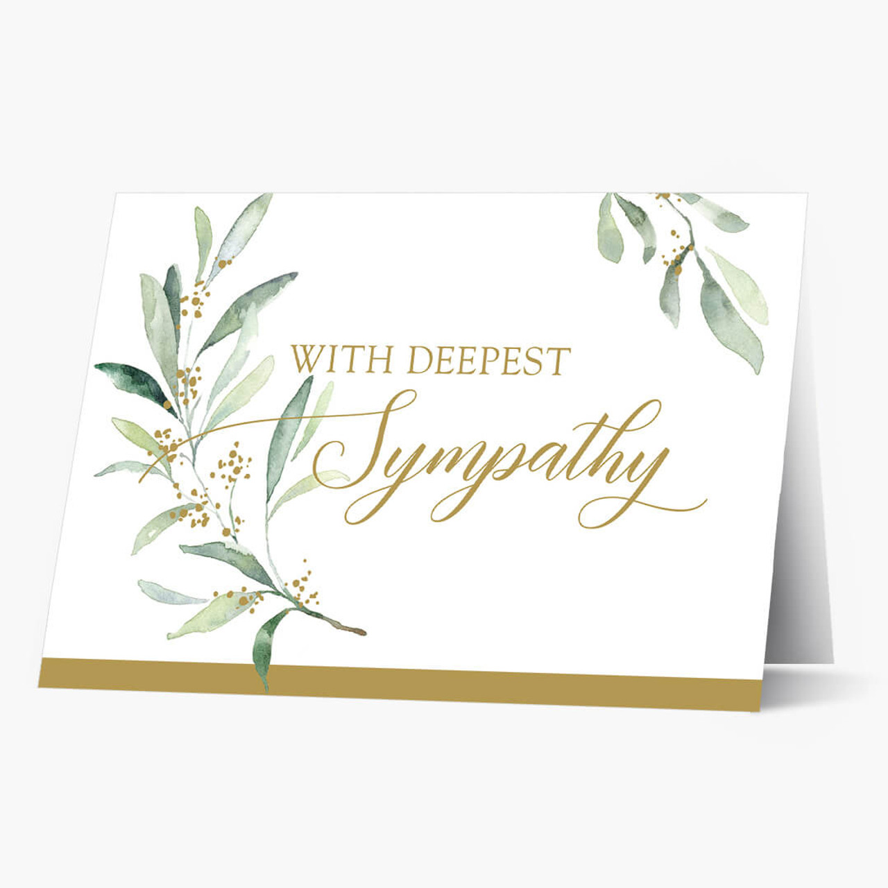 Greenery Sympathy Card