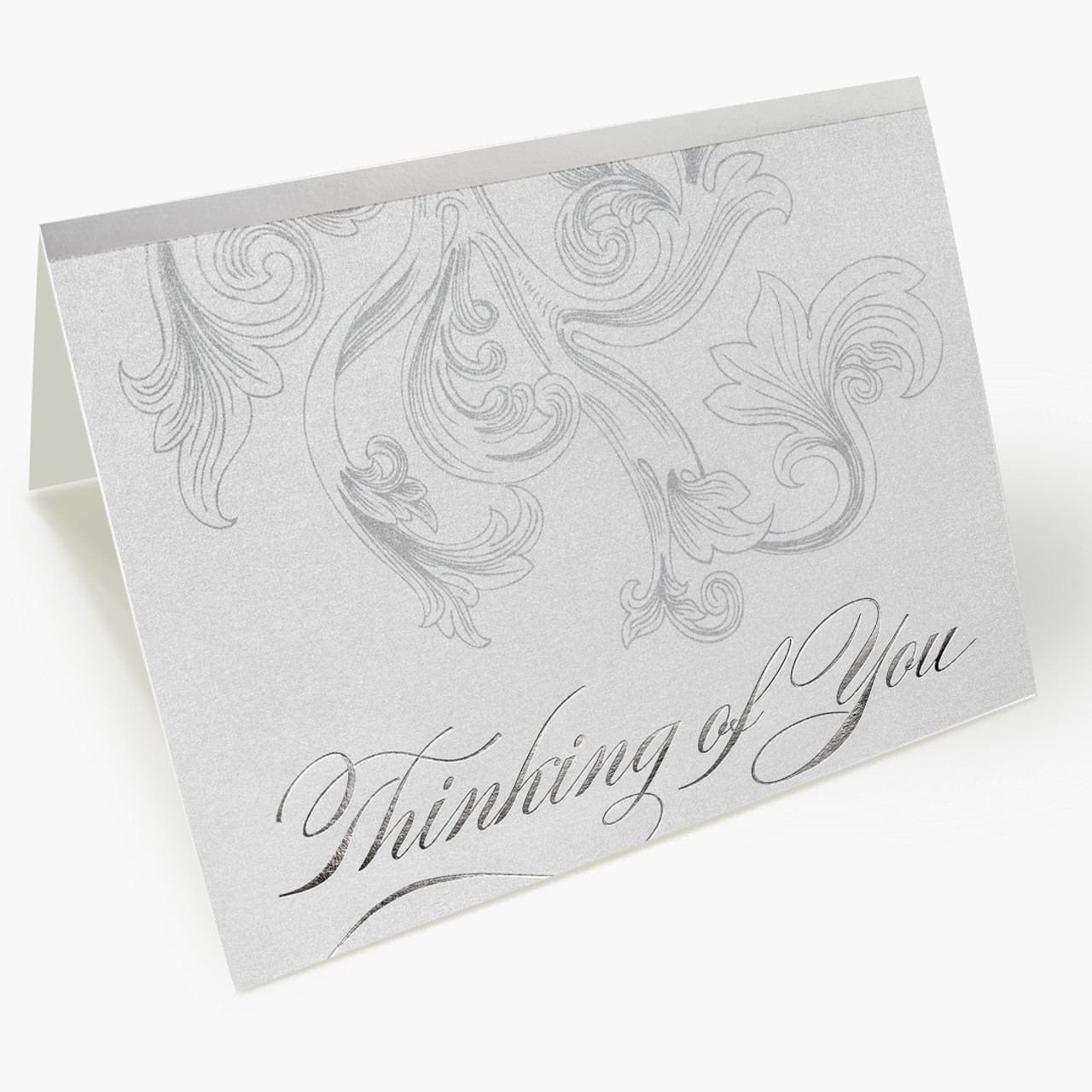 Silver  Filigree Thinking of You Card