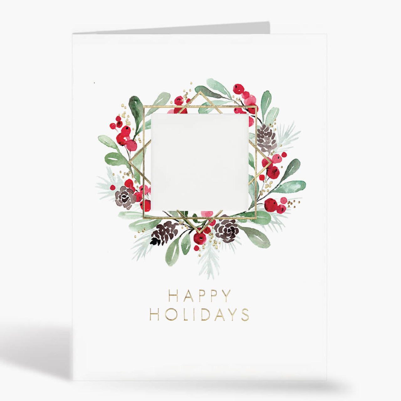 Holiday Green Logo Christmas Card