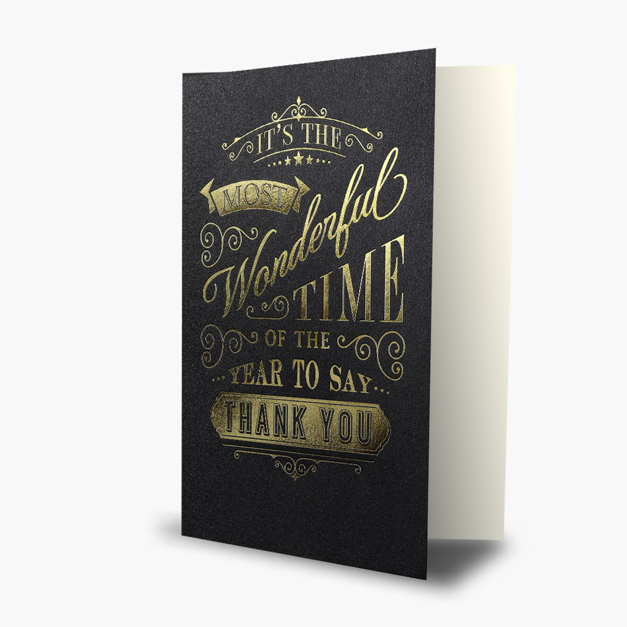 Golden Typography Christmas Card