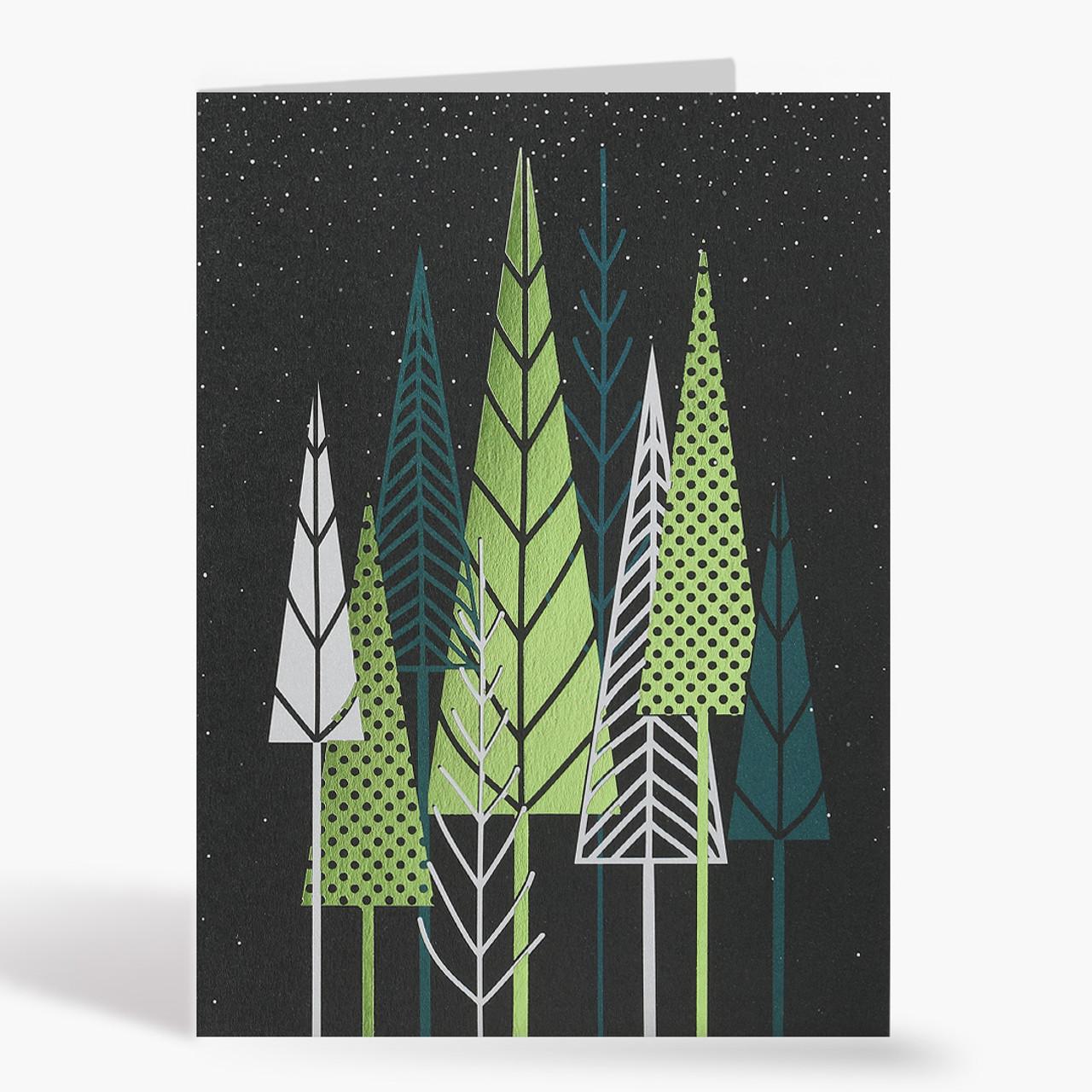 Modern Treeline Christmas Card
