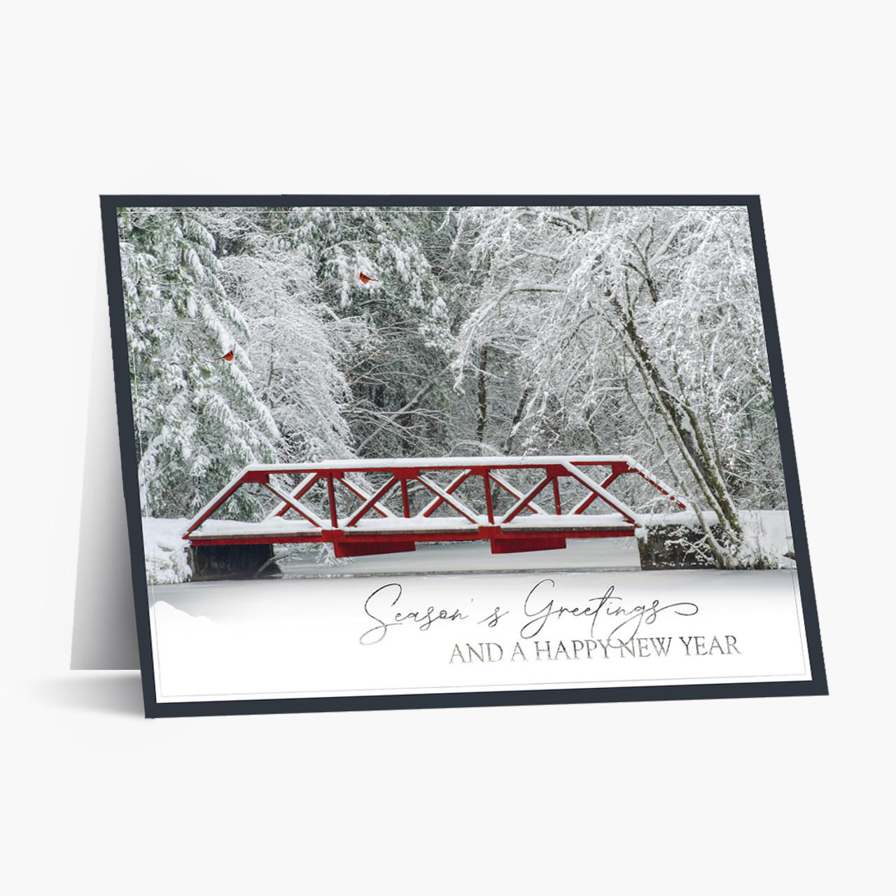 Winter Bridge Christmas Card